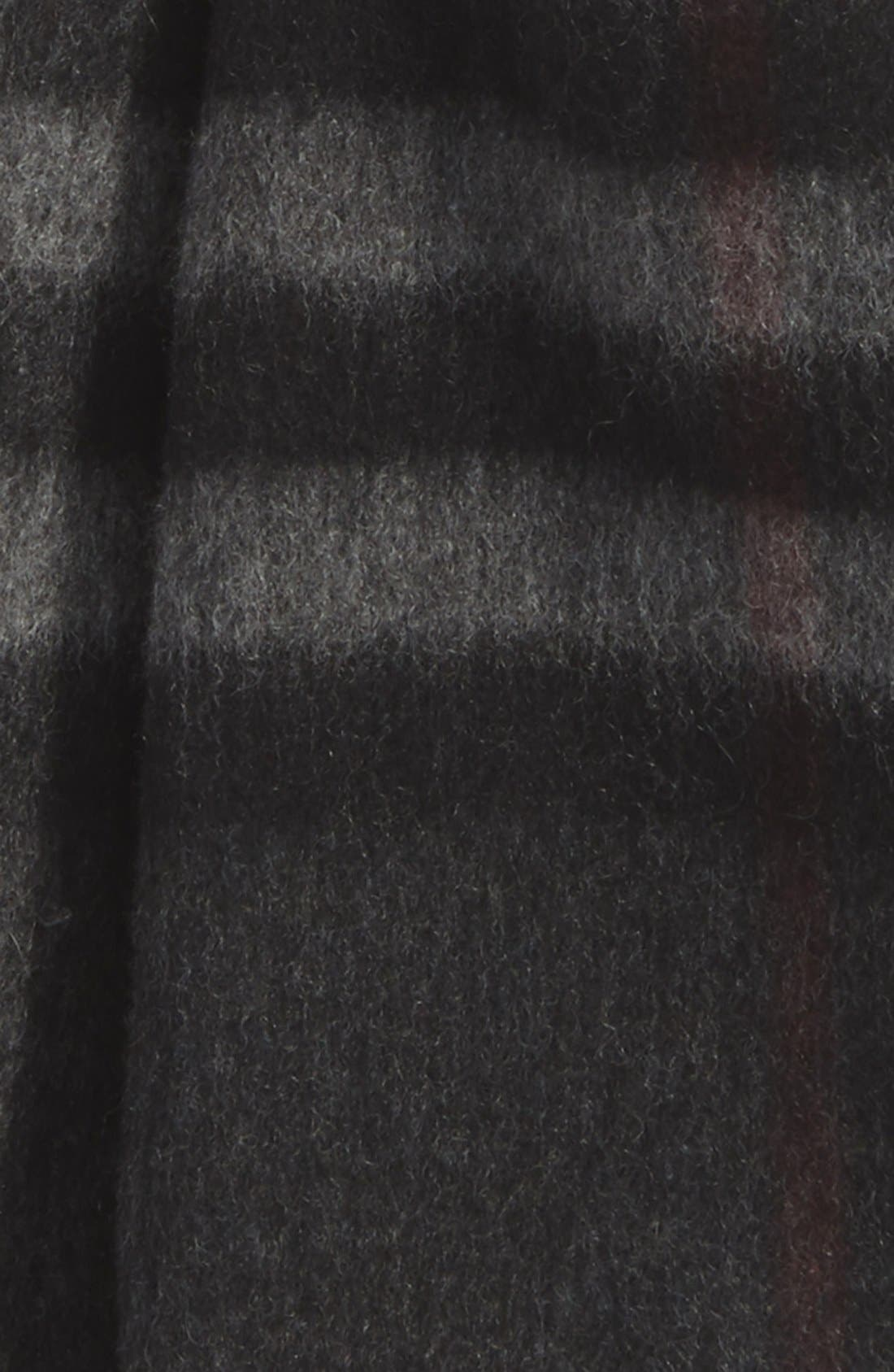 BURBERRY, Heritage Check Cashmere Scarf, Alternate thumbnail 2, color, 012