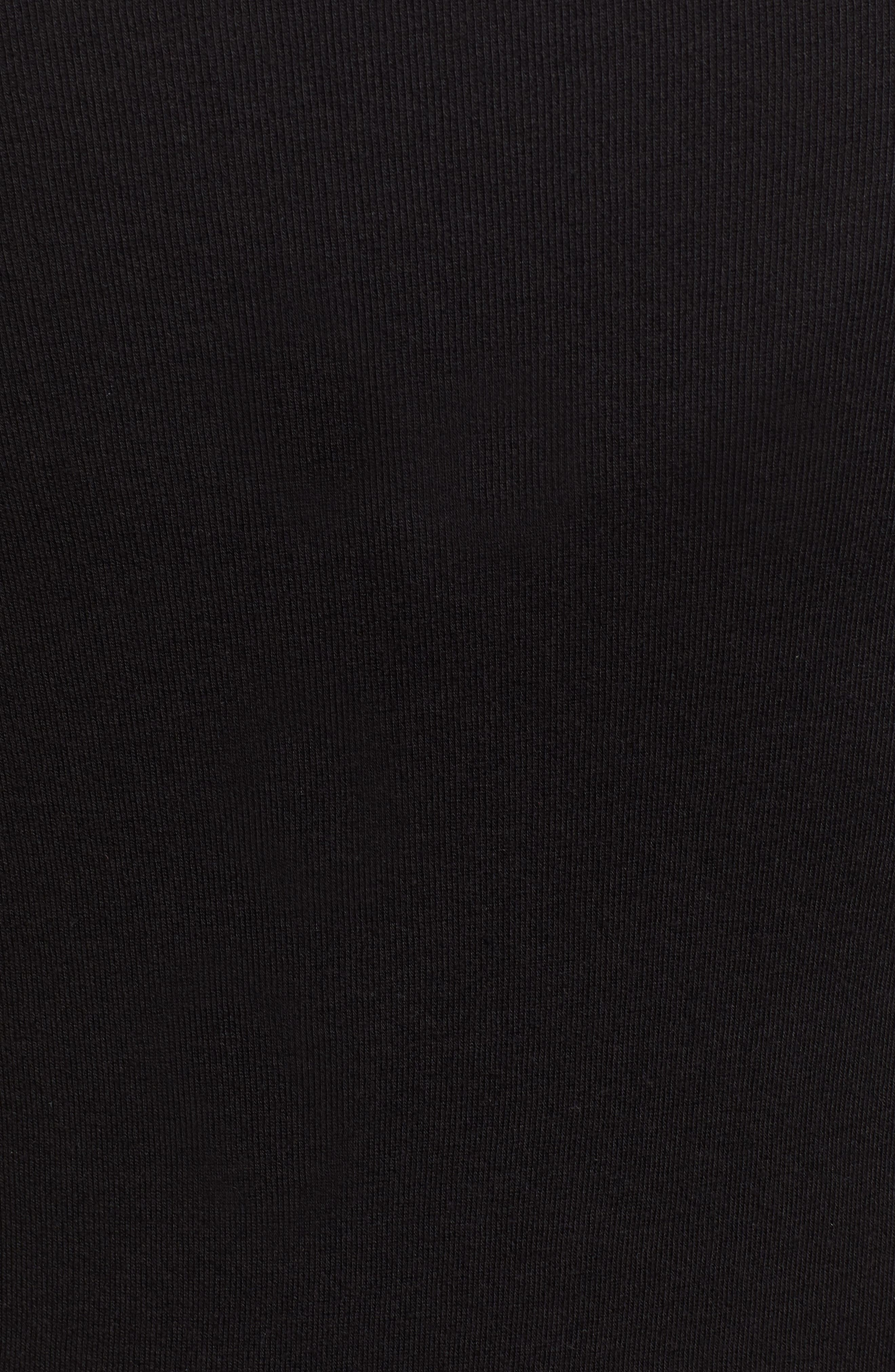 1901, Square Neck Top, Alternate thumbnail 5, color, BLACK