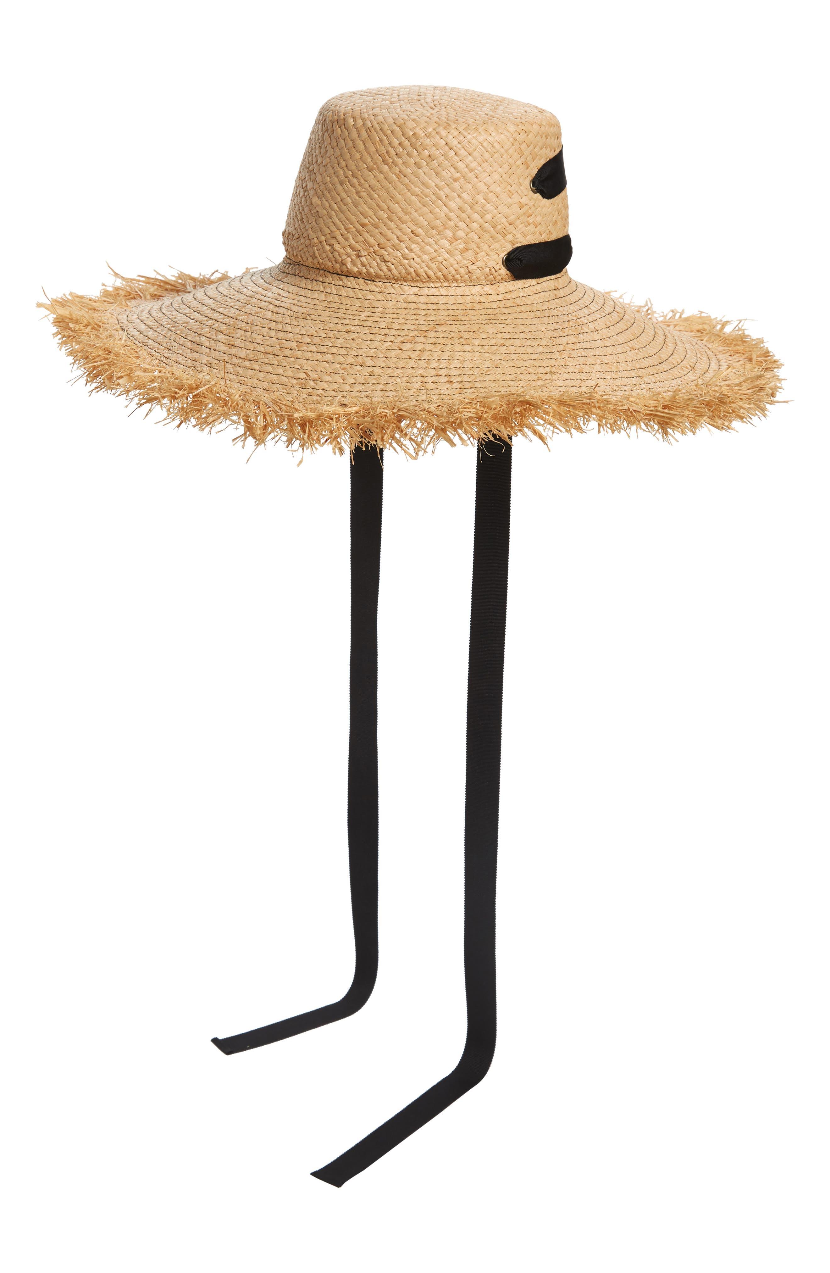 LOLA HATS, Alpargatas Straw Hat, Alternate thumbnail 4, color, NAT/ BLACK