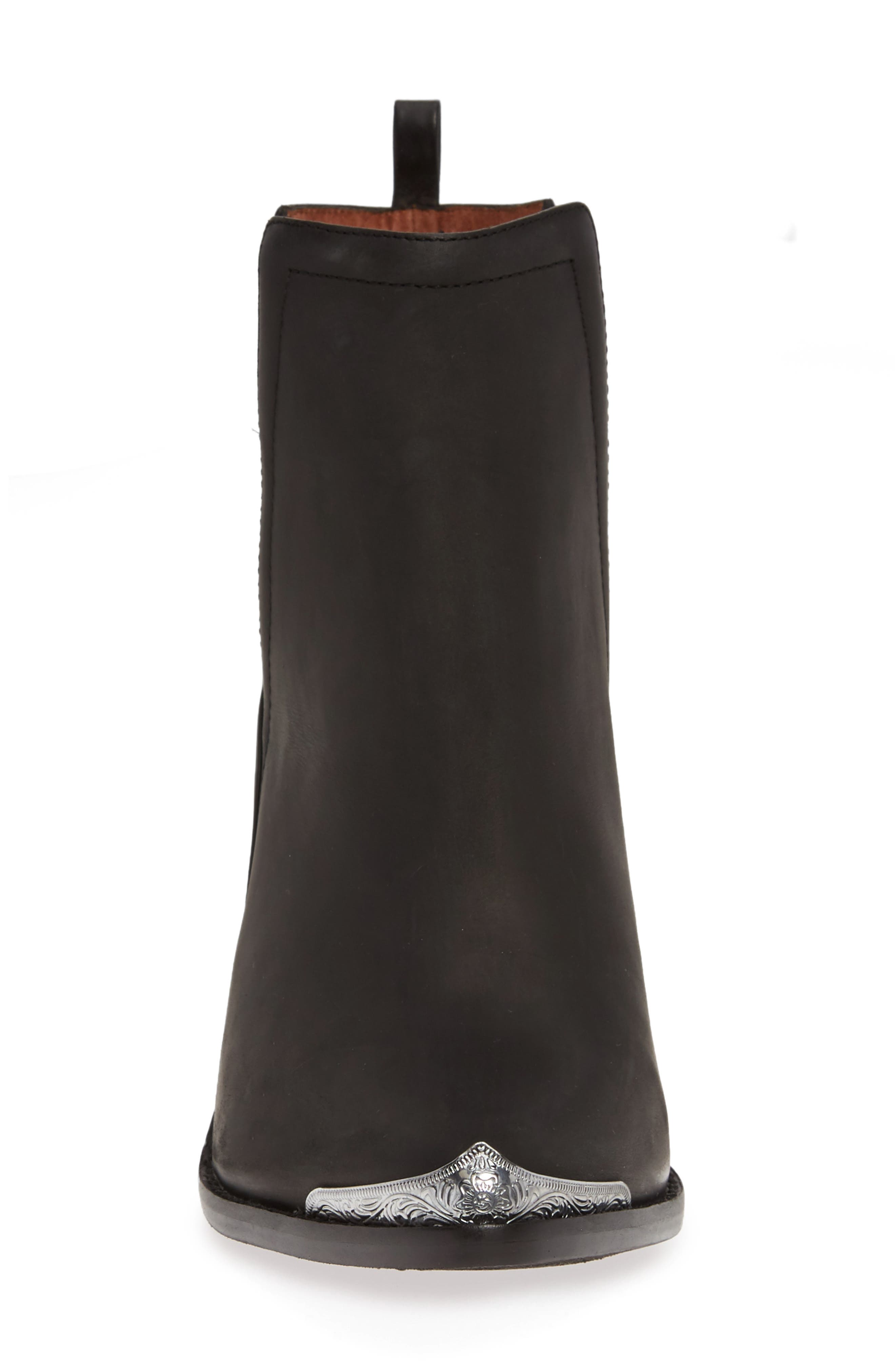 JEFFREY CAMPBELL, Cromwell Cutout Western Boot, Alternate thumbnail 5, color, BLACK DISTRESSED