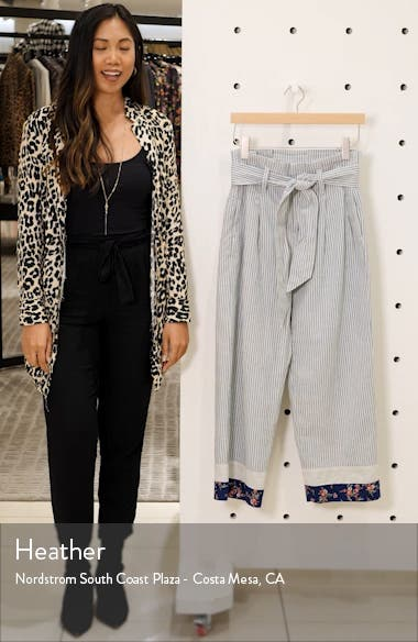 x The New Denim Project<sup>®</sup> Patchwork Paperbag Pants, sales video thumbnail