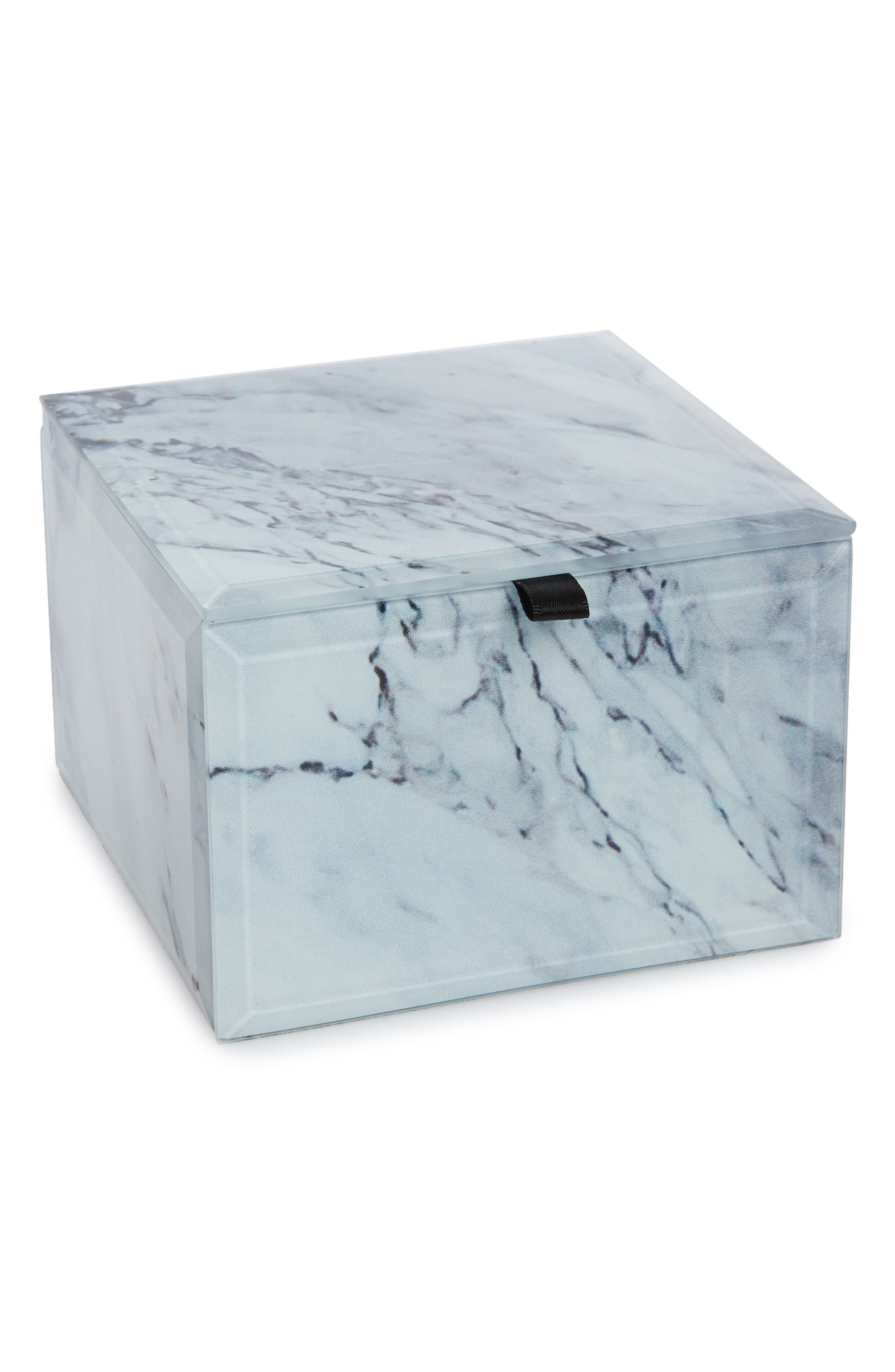 CAROLE Medium Jewelry Box, Main, color, MARBLE