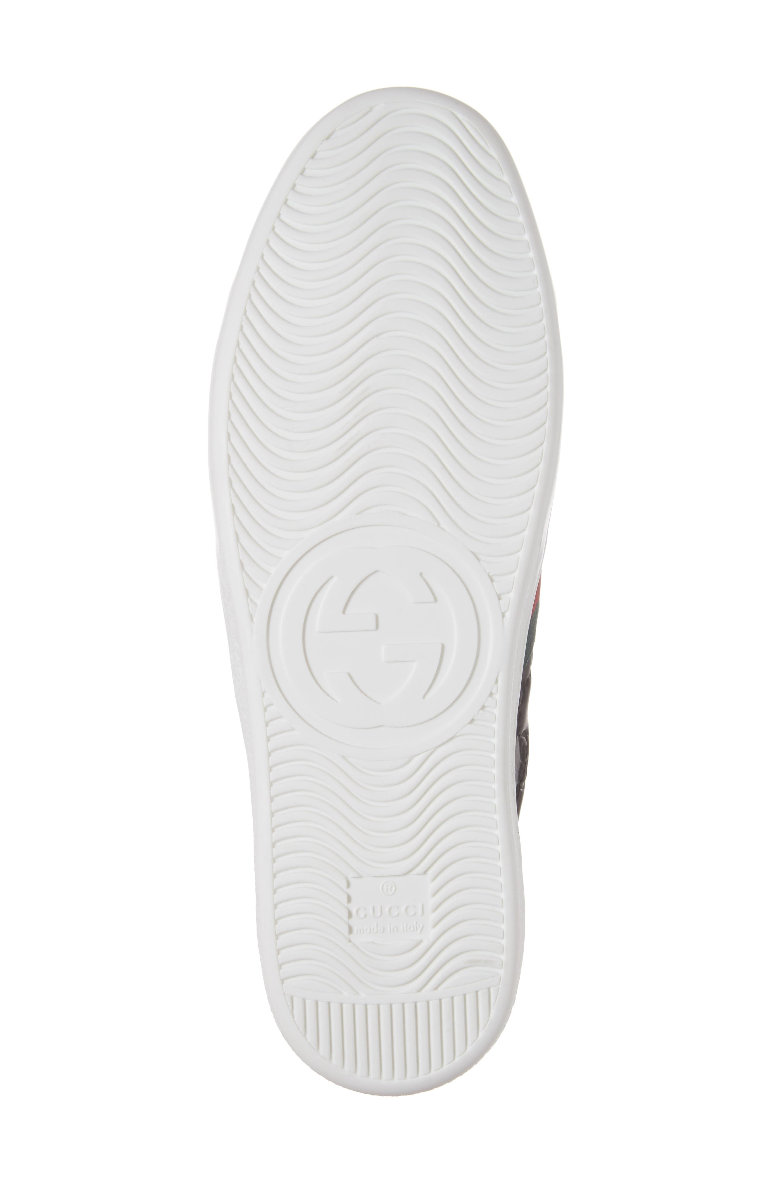 GUCCI, New Ace Sneaker, Alternate thumbnail 6, color, 001