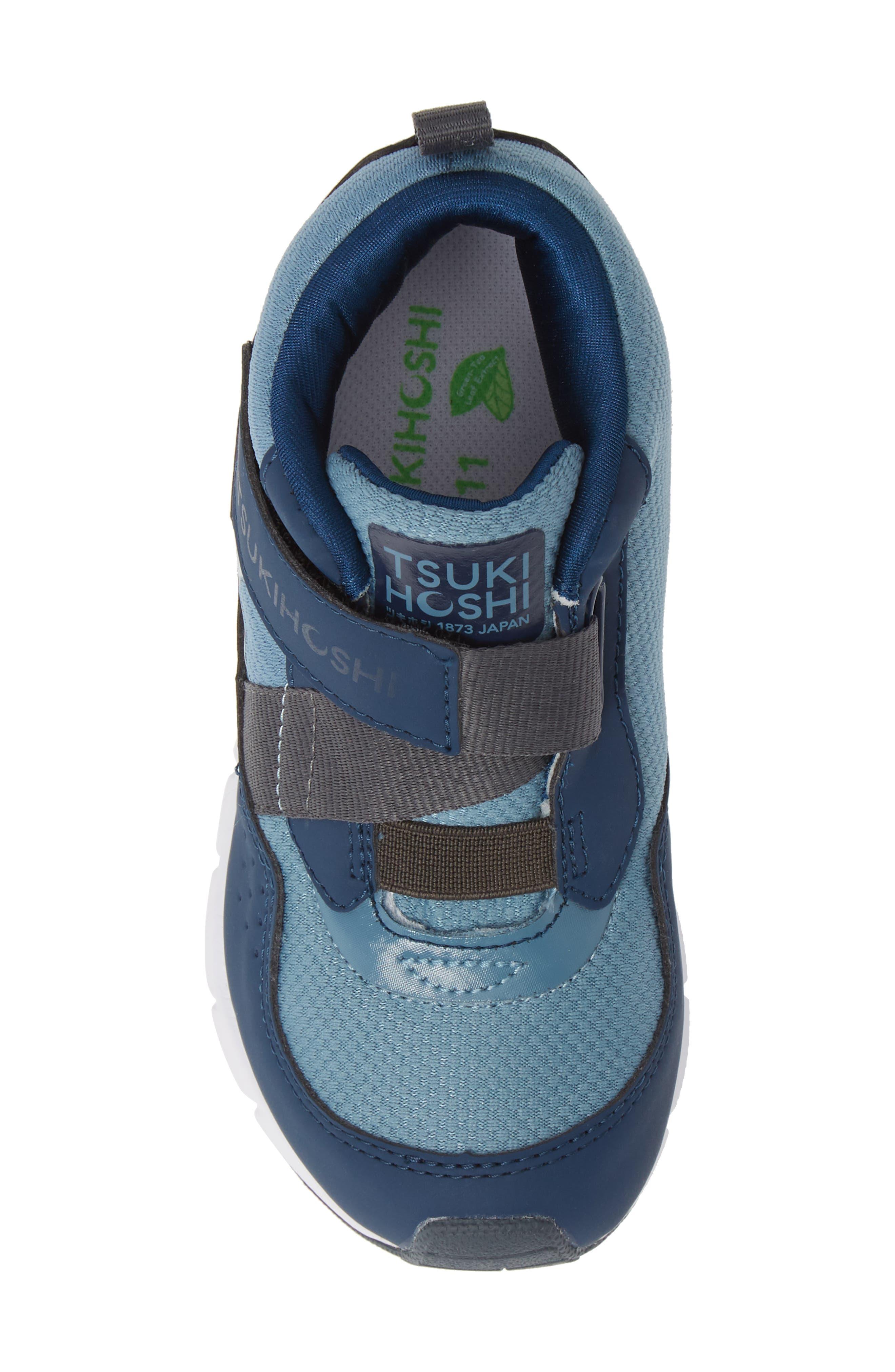 TSUKIHOSHI, Tokyo Waterproof Sneaker, Alternate thumbnail 5, color, NAVY/ SEA