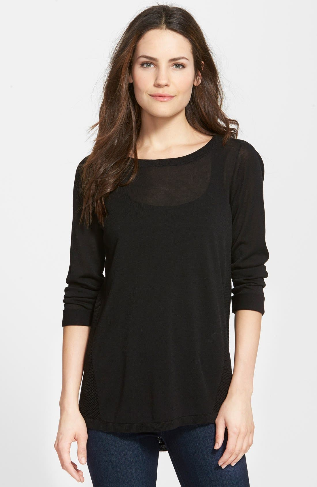 NIC+ZOE Textured Back Top, Main, color, 004