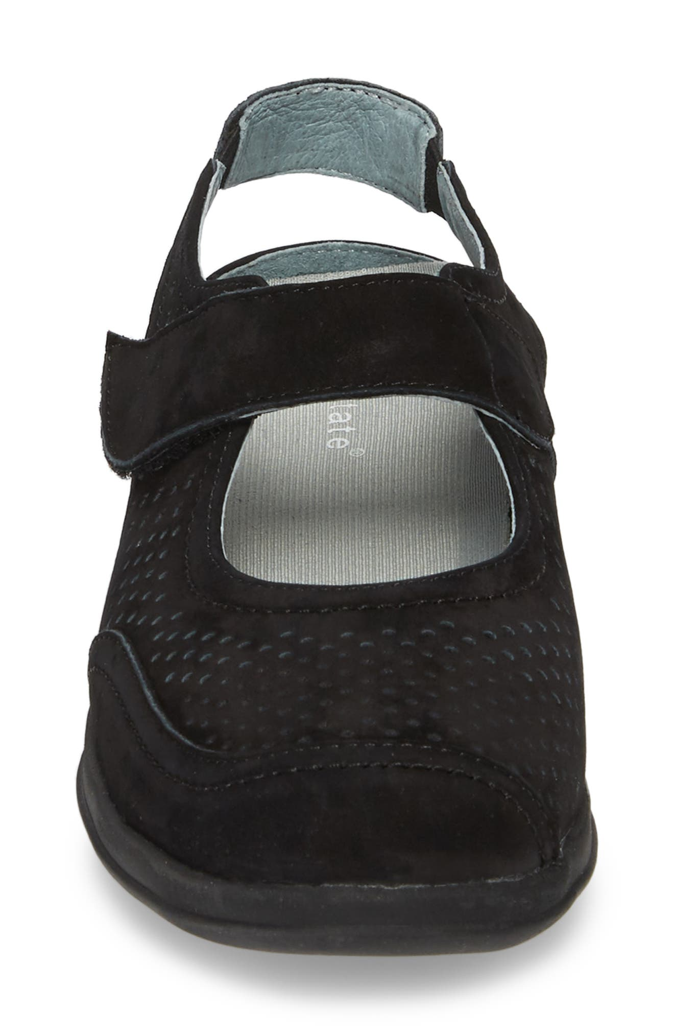 DAVID TATE, Clever Slingback Sneaker, Alternate thumbnail 4, color, BLACK NUBUCK