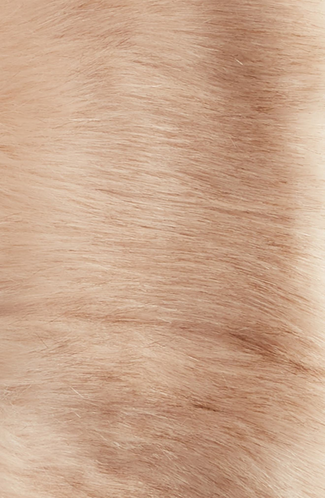 SOLE SOCIETY, Faux Fur Stole, Alternate thumbnail 4, color, BLUSH
