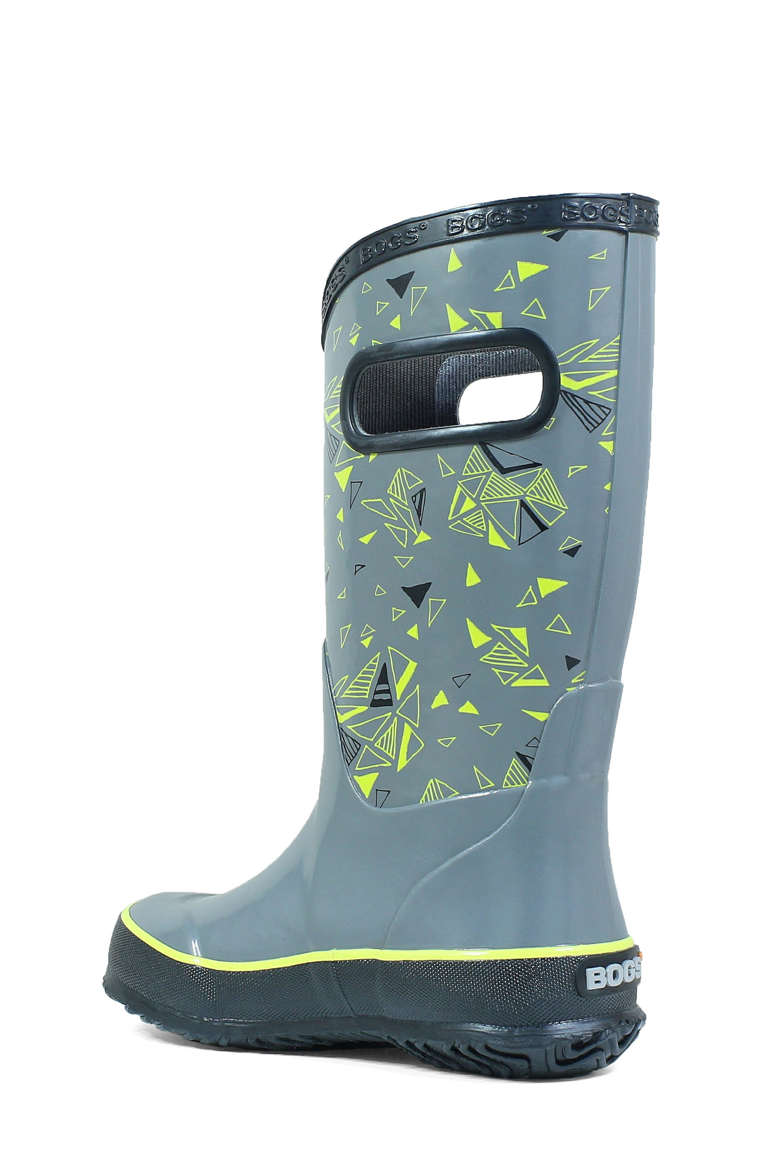 BOGS, Triego Waterproof Rain Boot, Alternate thumbnail 2, color, GRAY MULTI