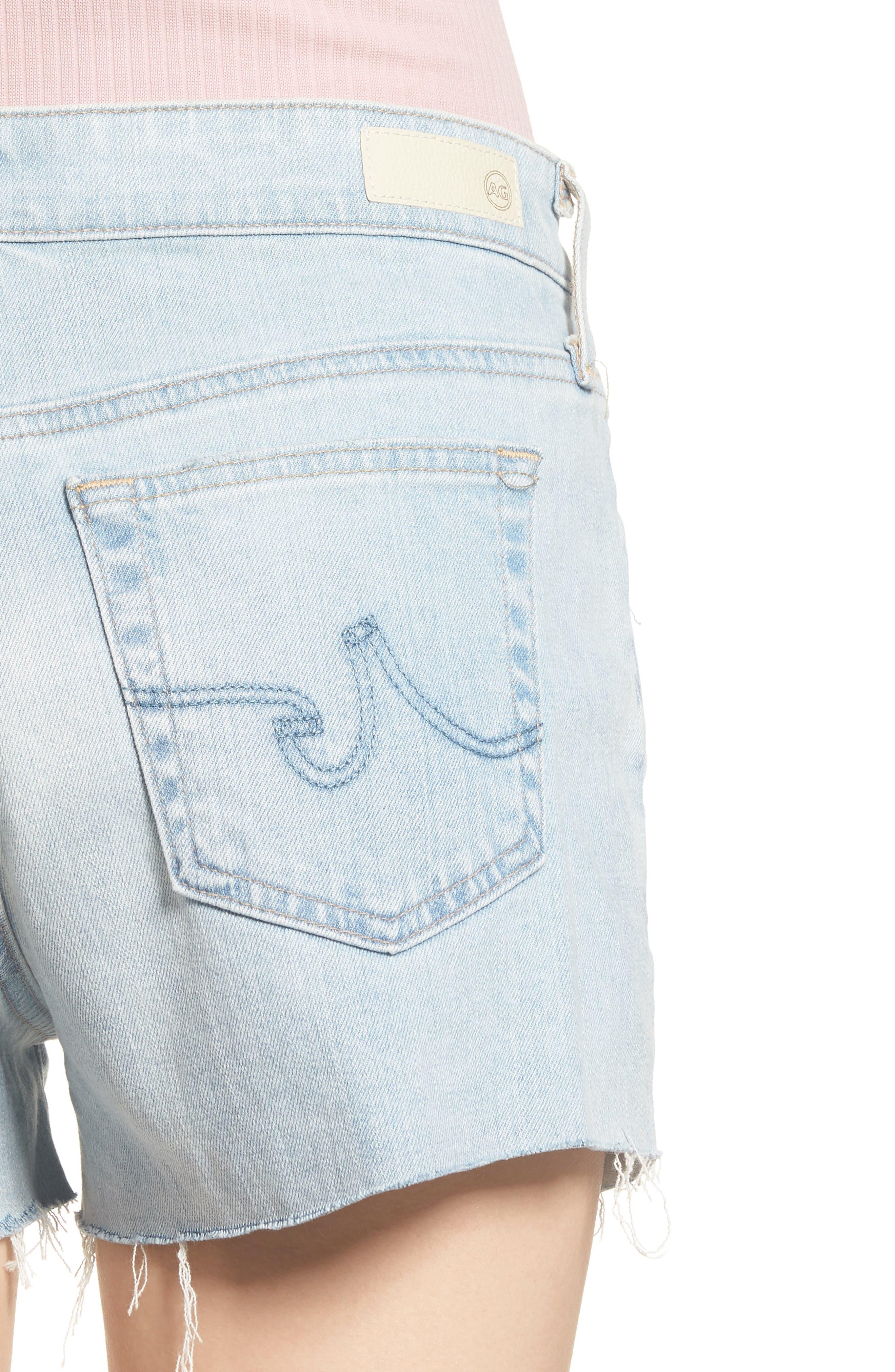 AG, The Bryn High Waist Cutoff Denim Shorts, Alternate thumbnail 5, color, 28Y ALTERED