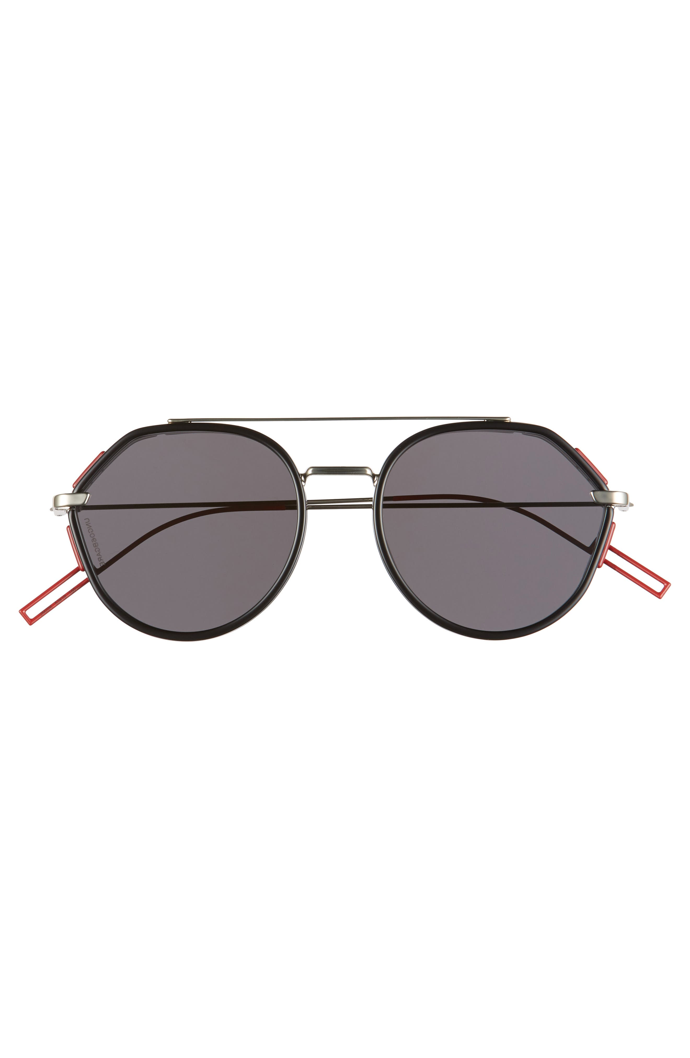 DIOR HOMME, 53mm Round Sunglasses, Alternate thumbnail 2, color, 001