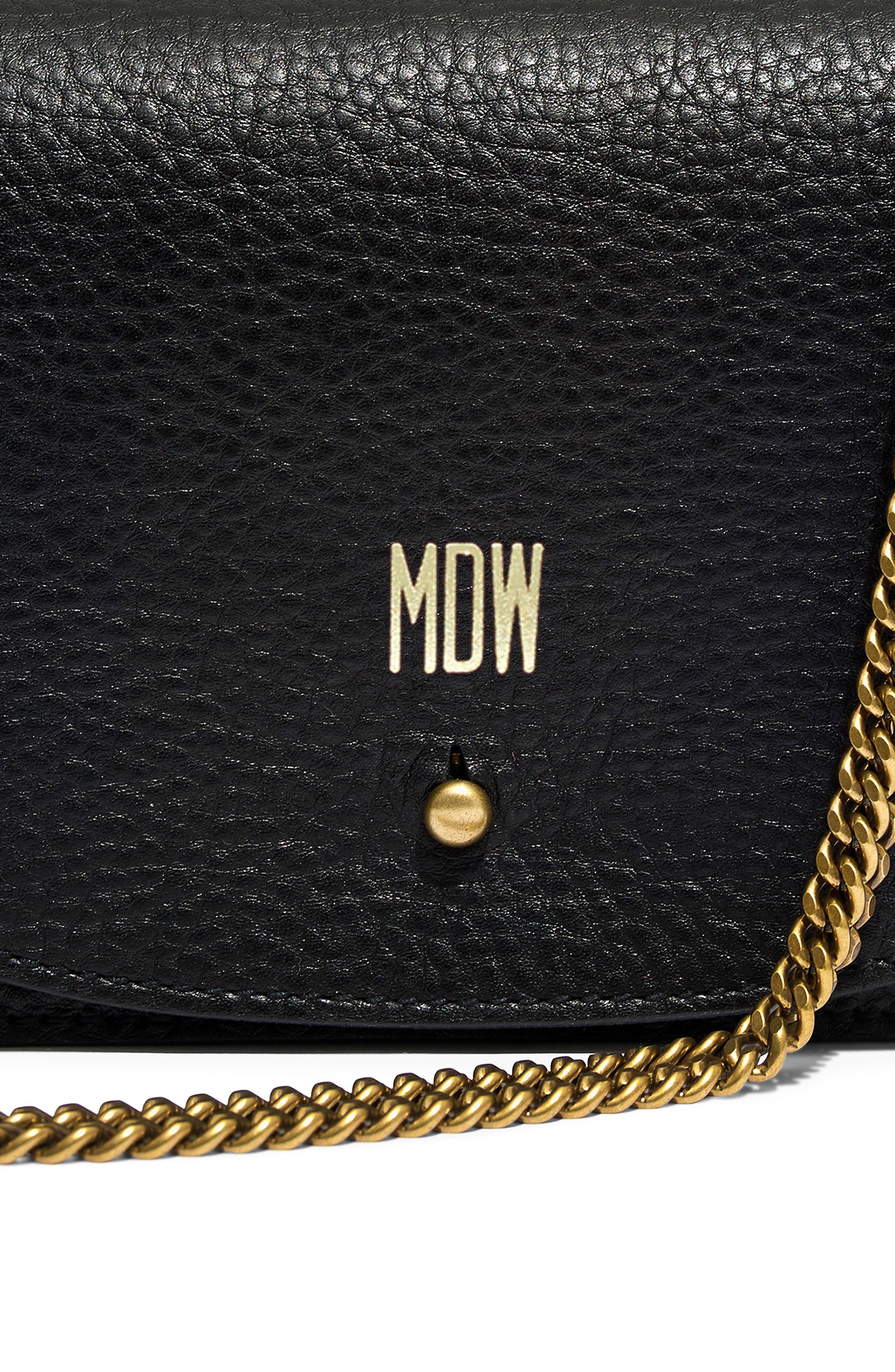 MADEWELL, Leather Crossbody Wallet, Alternate thumbnail 7, color, TRUE BLACK