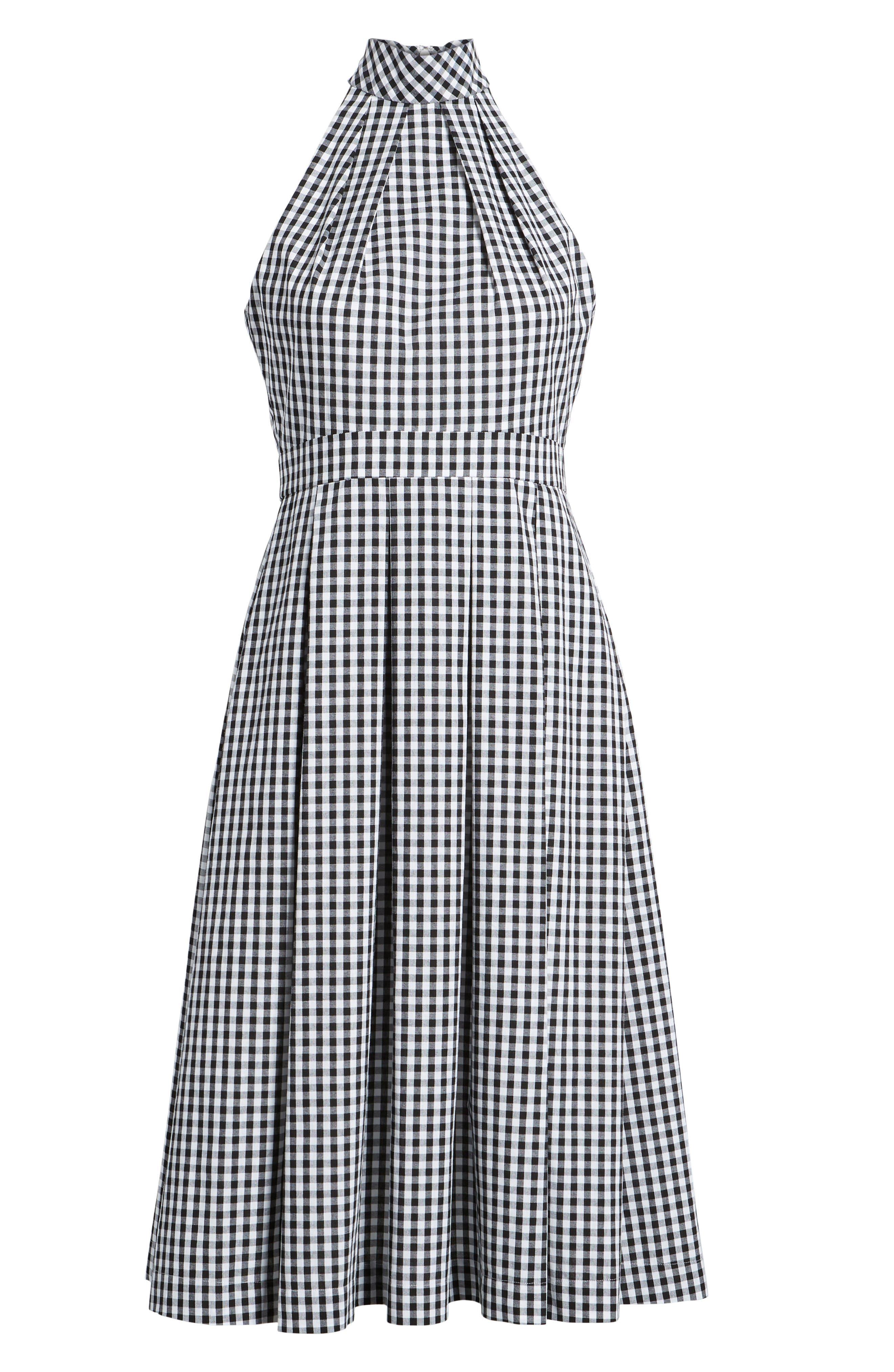 1901, Gingham Halter Dress, Alternate thumbnail 7, color, 001