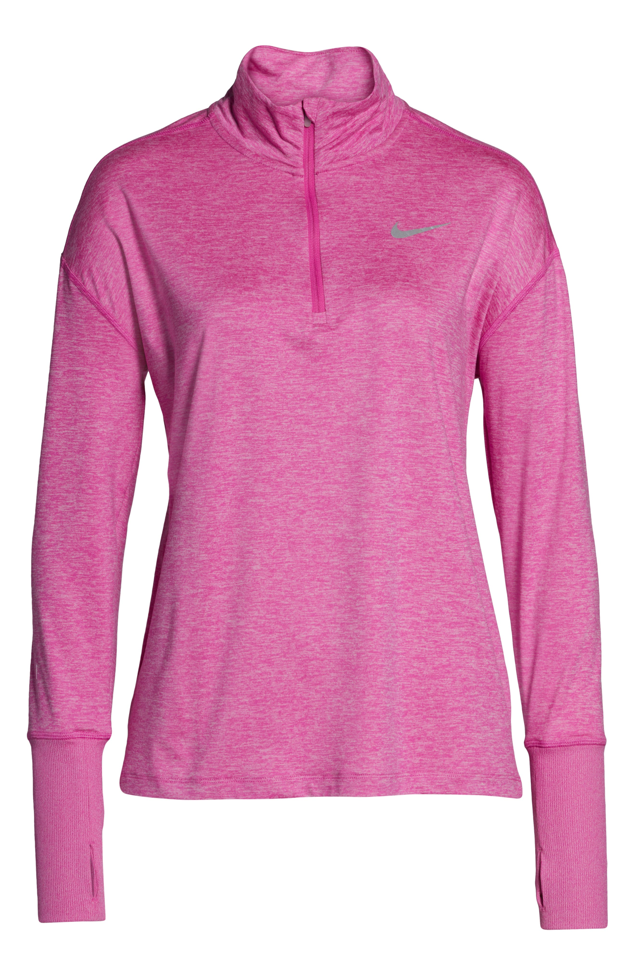 NIKE, Element Long-Sleeve Running Top, Alternate thumbnail 7, color, ACTIVE FUCHSIA/ PINK RISE