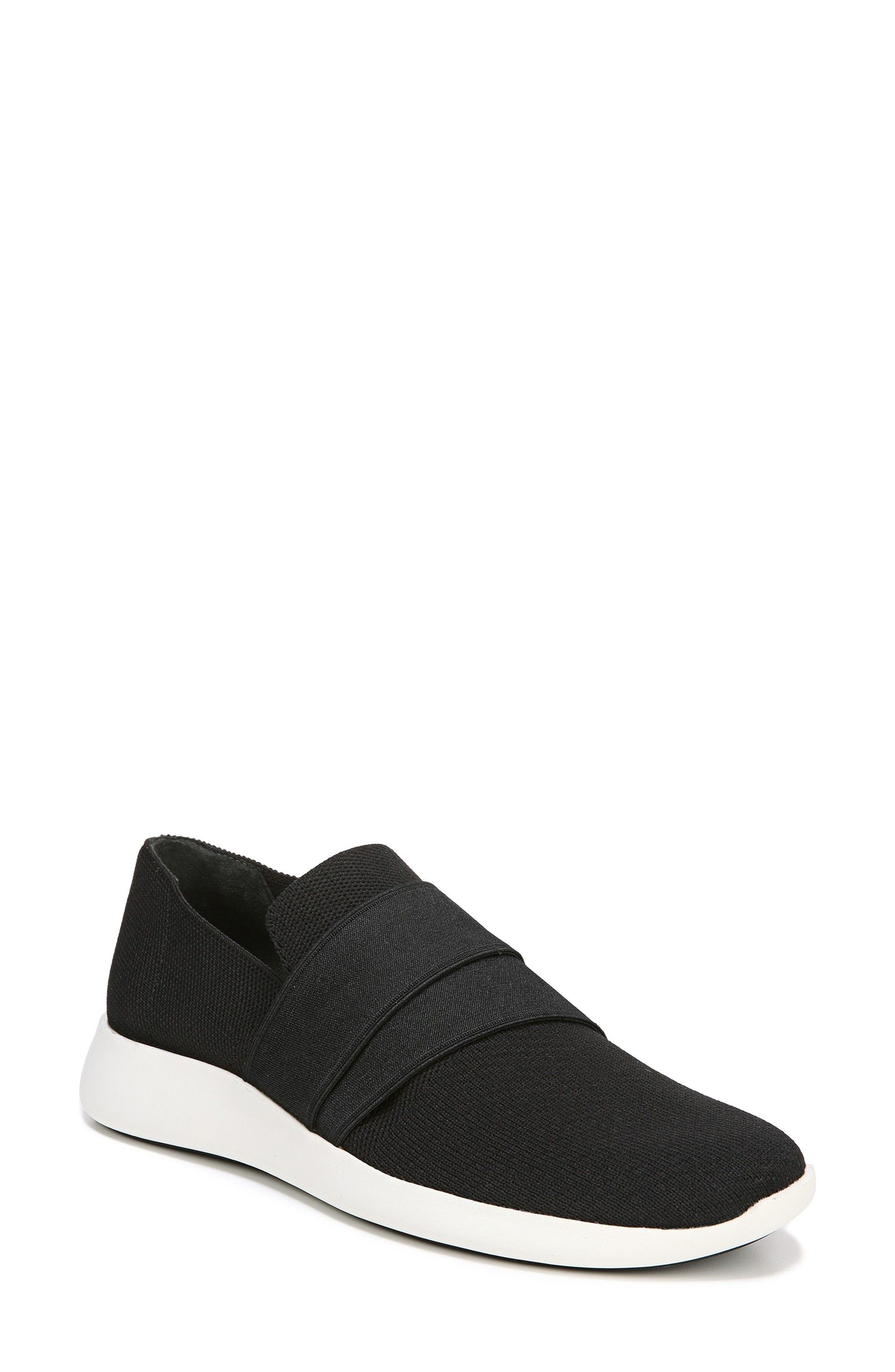 VINCE, Aston Slip-On Sneaker, Main thumbnail 1, color, BLACK SOLID KNIT