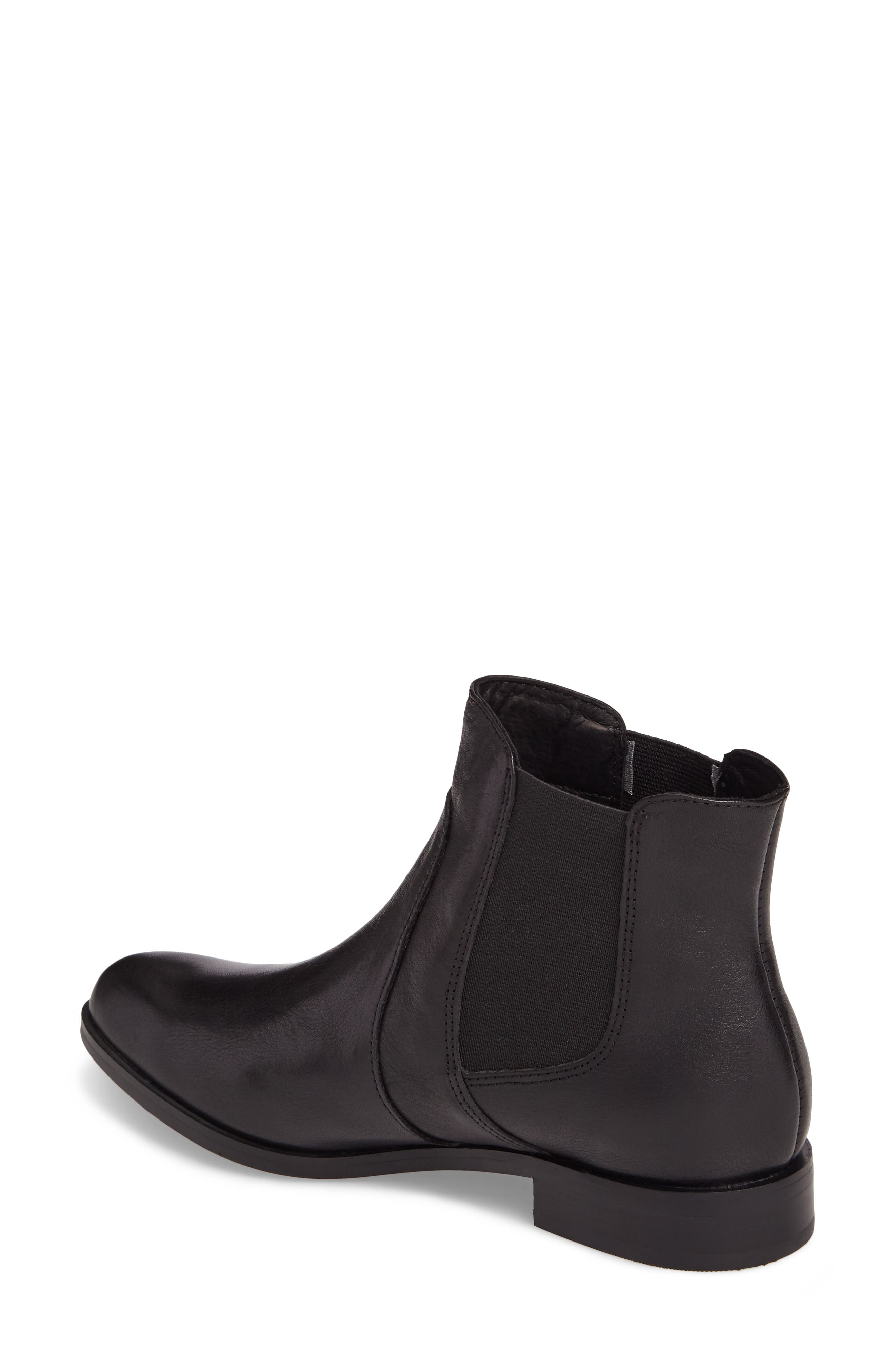 ISOLÁ, Mora Bootie, Alternate thumbnail 2, color, BLACK LEATHER