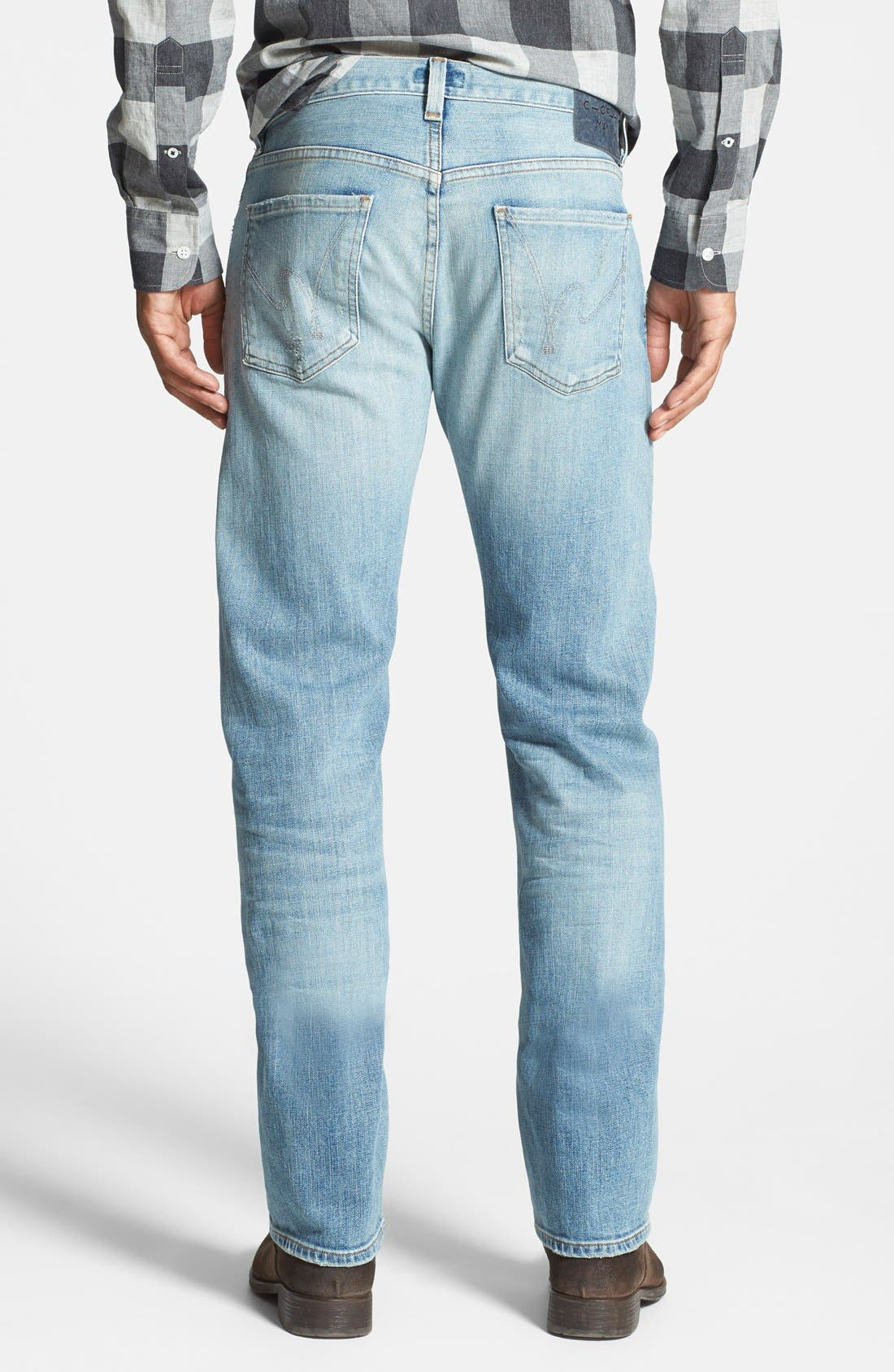 CITIZENS OF HUMANITY, 'Core' Slim Straight Leg Jeans, Alternate thumbnail 4, color, 458