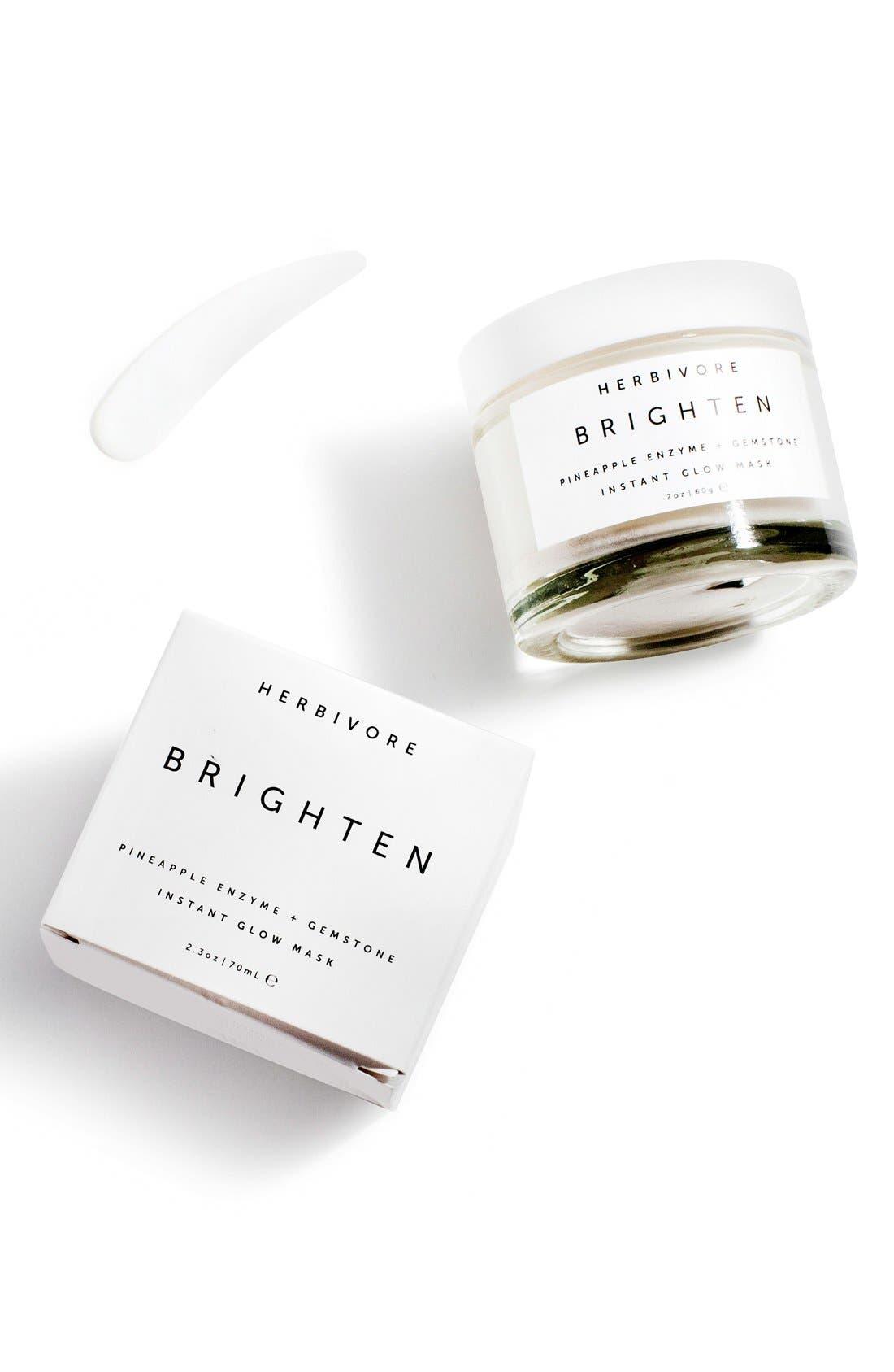 HERBIVORE BOTANICALS, Brighten Pineapple Enzyme + Gemstone Instant Glow Mask, Alternate thumbnail 3, color, NO COLOR