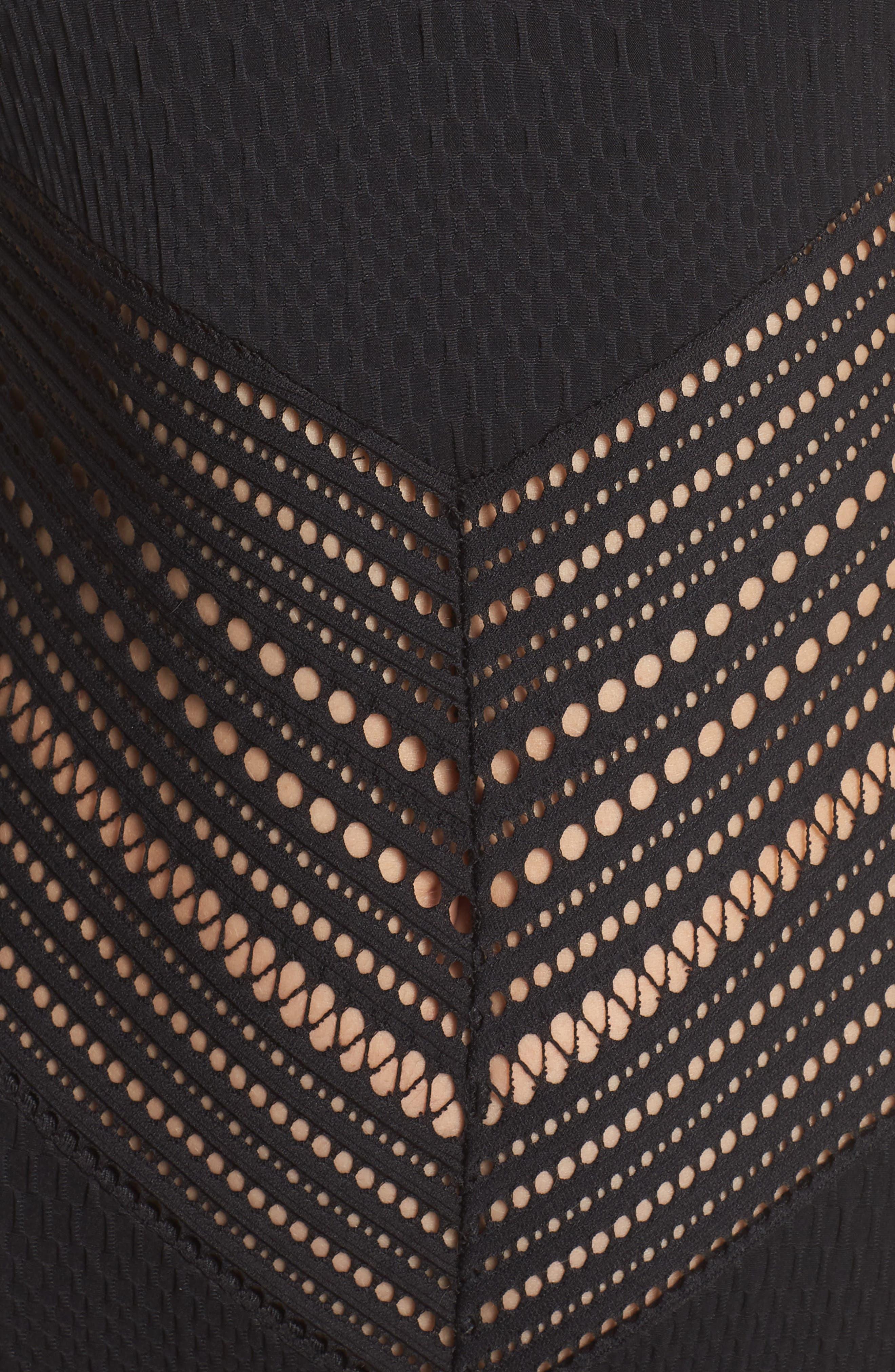ROBIN PICCONE, Perla One-Piece Swimsuit, Alternate thumbnail 6, color, BLACK