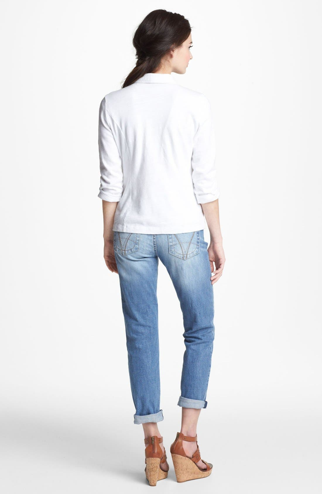 KUT FROM THE KLOTH, 'Catherine' Distressed Slim Boyfriend Jeans, Alternate thumbnail 2, color, 400