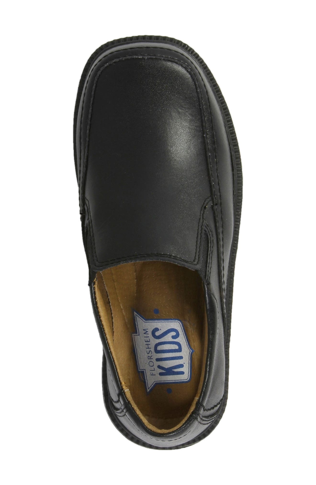 FLORSHEIM, 'Bogan' Slip-On, Alternate thumbnail 5, color, BLACK