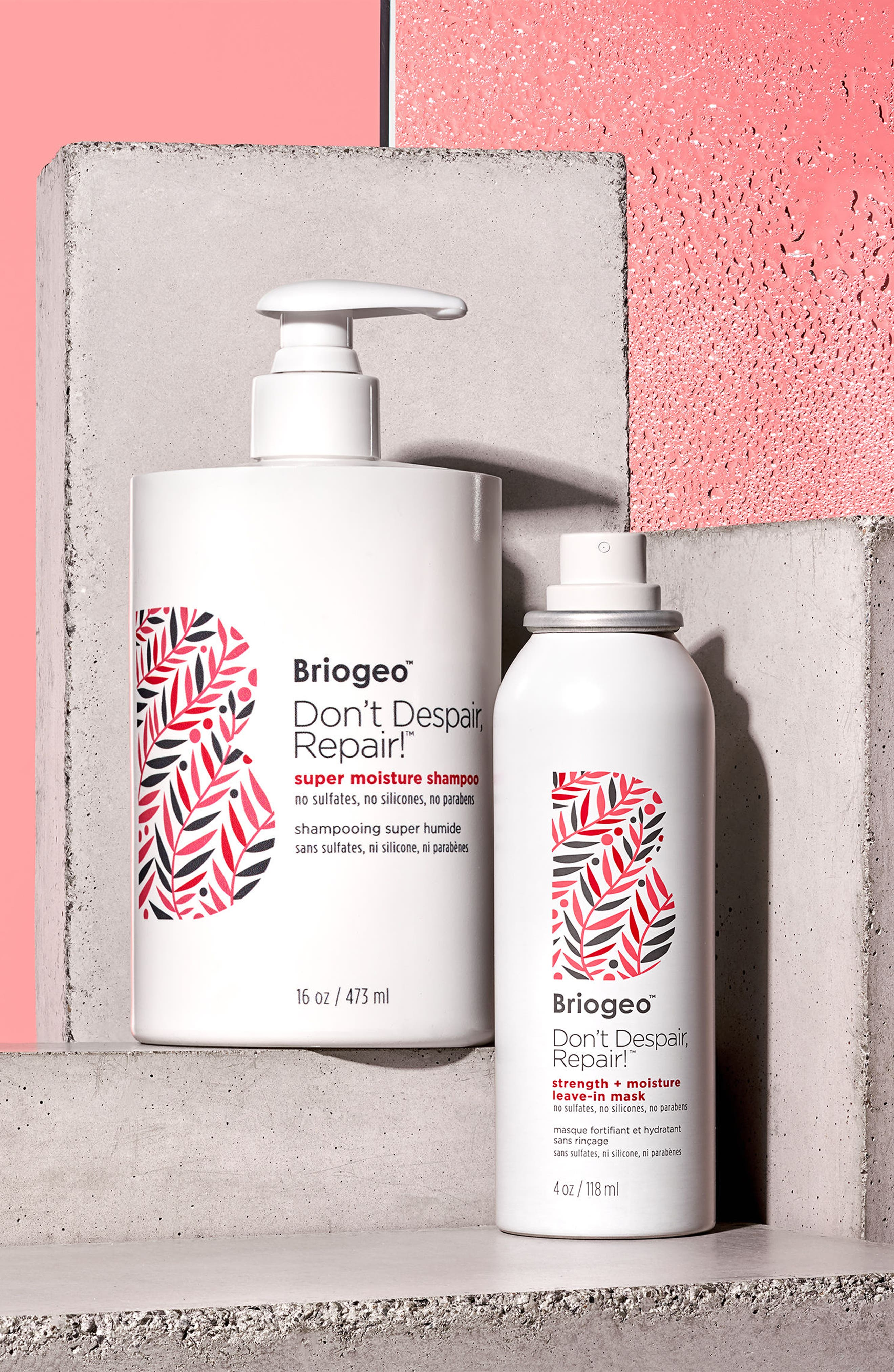 BRIOGEO, Don't Despair, Repair! Strength + Moisture Leave In Mask Spray, Alternate thumbnail 3, color, NO COLOR