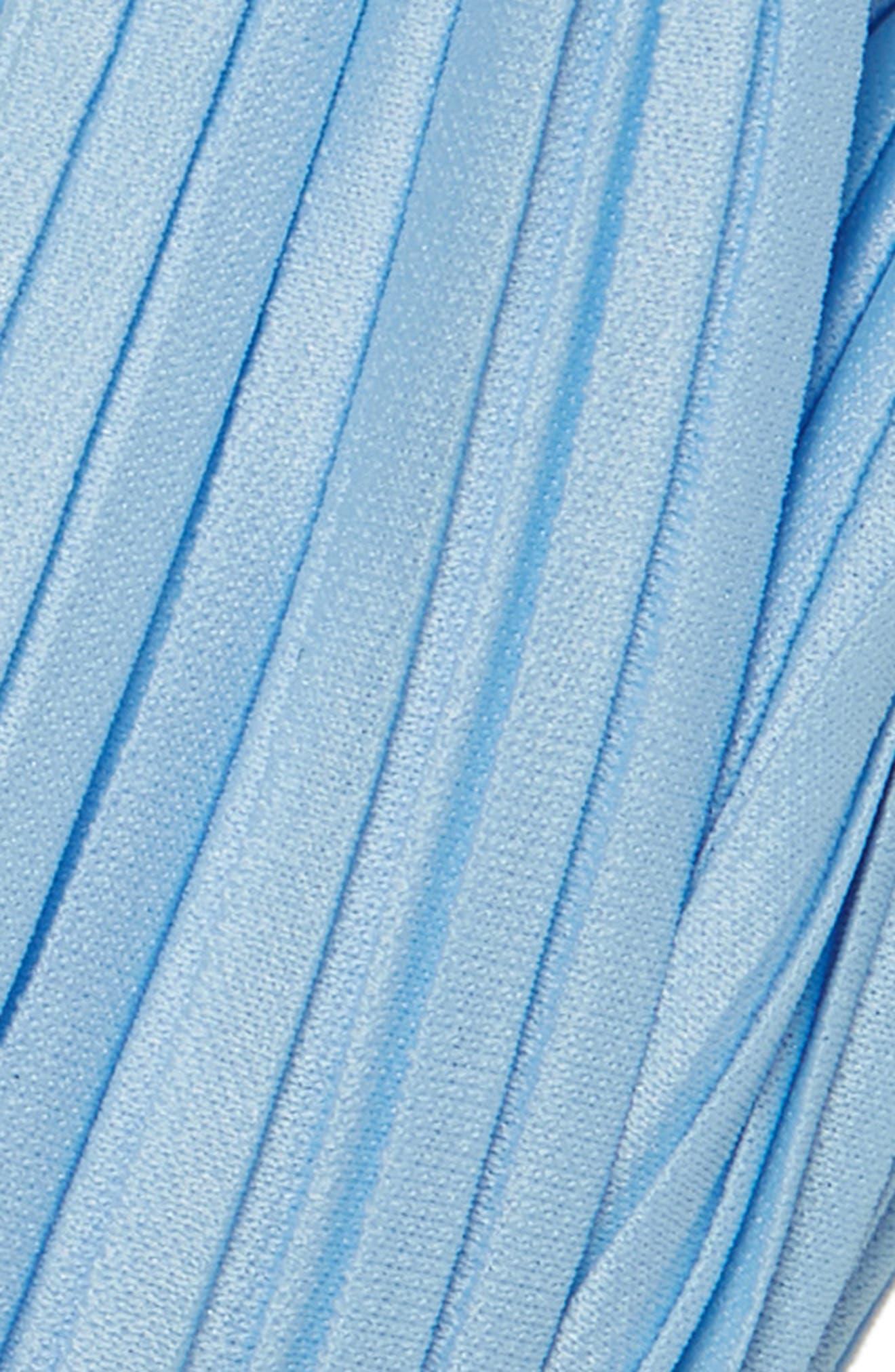 CARA, Pleated Turban Head Wrap, Alternate thumbnail 2, color, BLUE