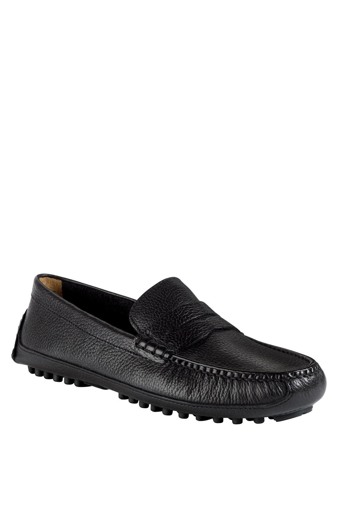 COLE HAAN, 'Grant Canoe' Penny Loafer, Main thumbnail 1, color, 001