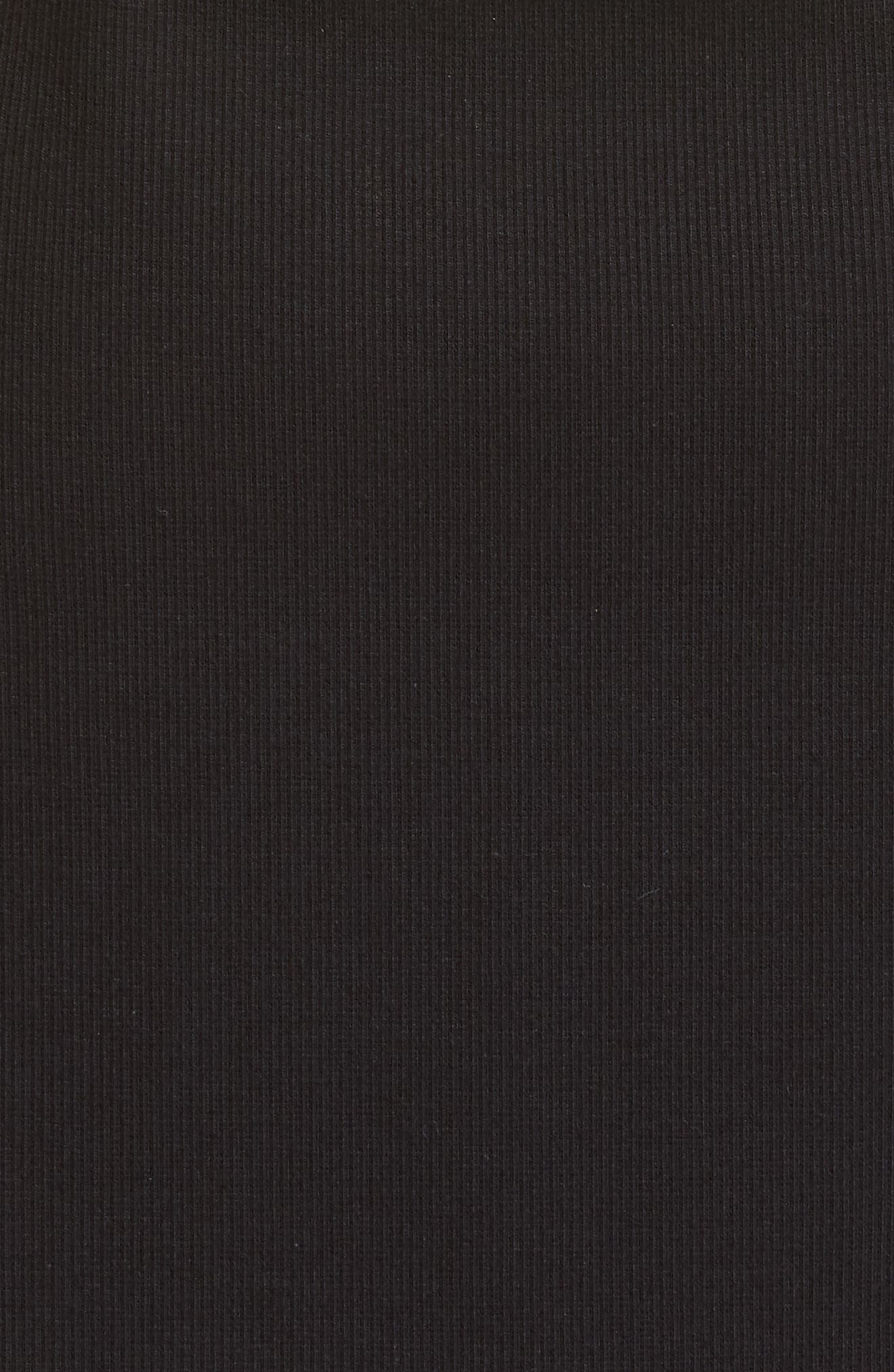 BEAUFILLE, Leda Puff Sleeve Dress, Alternate thumbnail 5, color, BLACK