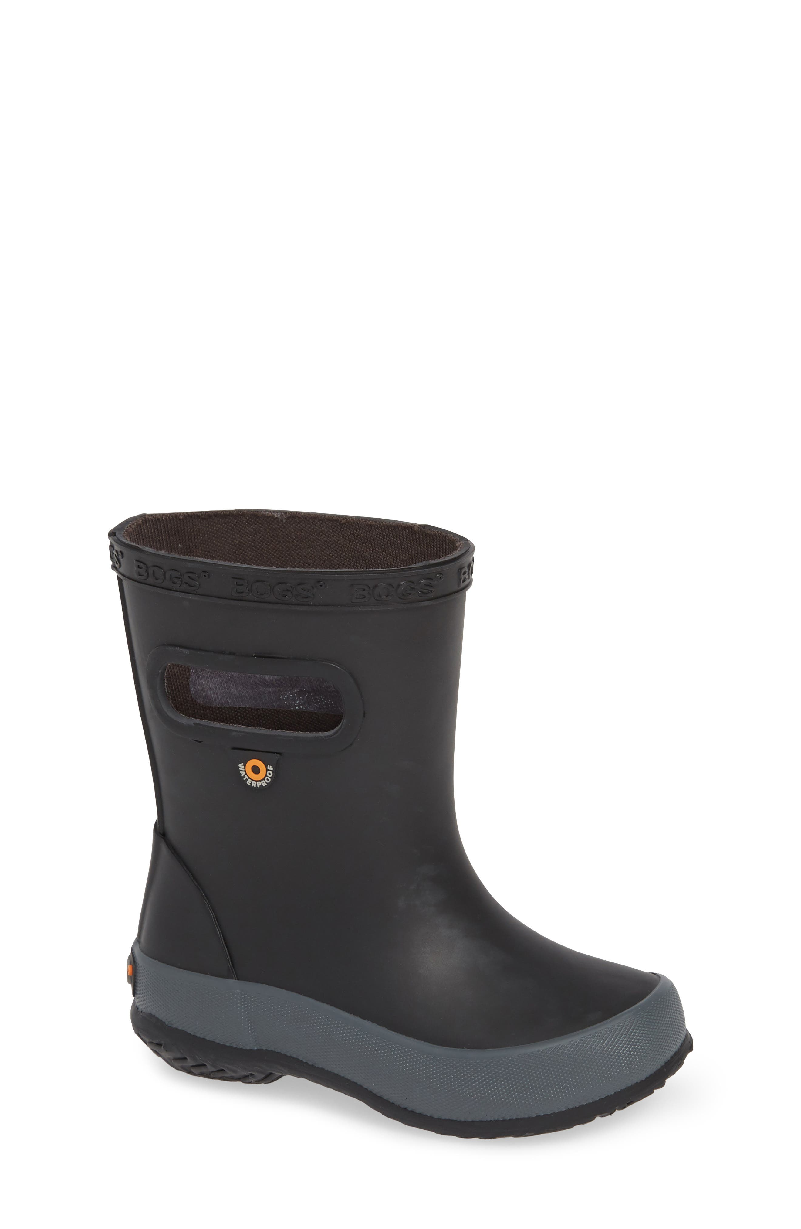 BOGS Skipper Solid Rubber Rain Boot, Main, color, 001
