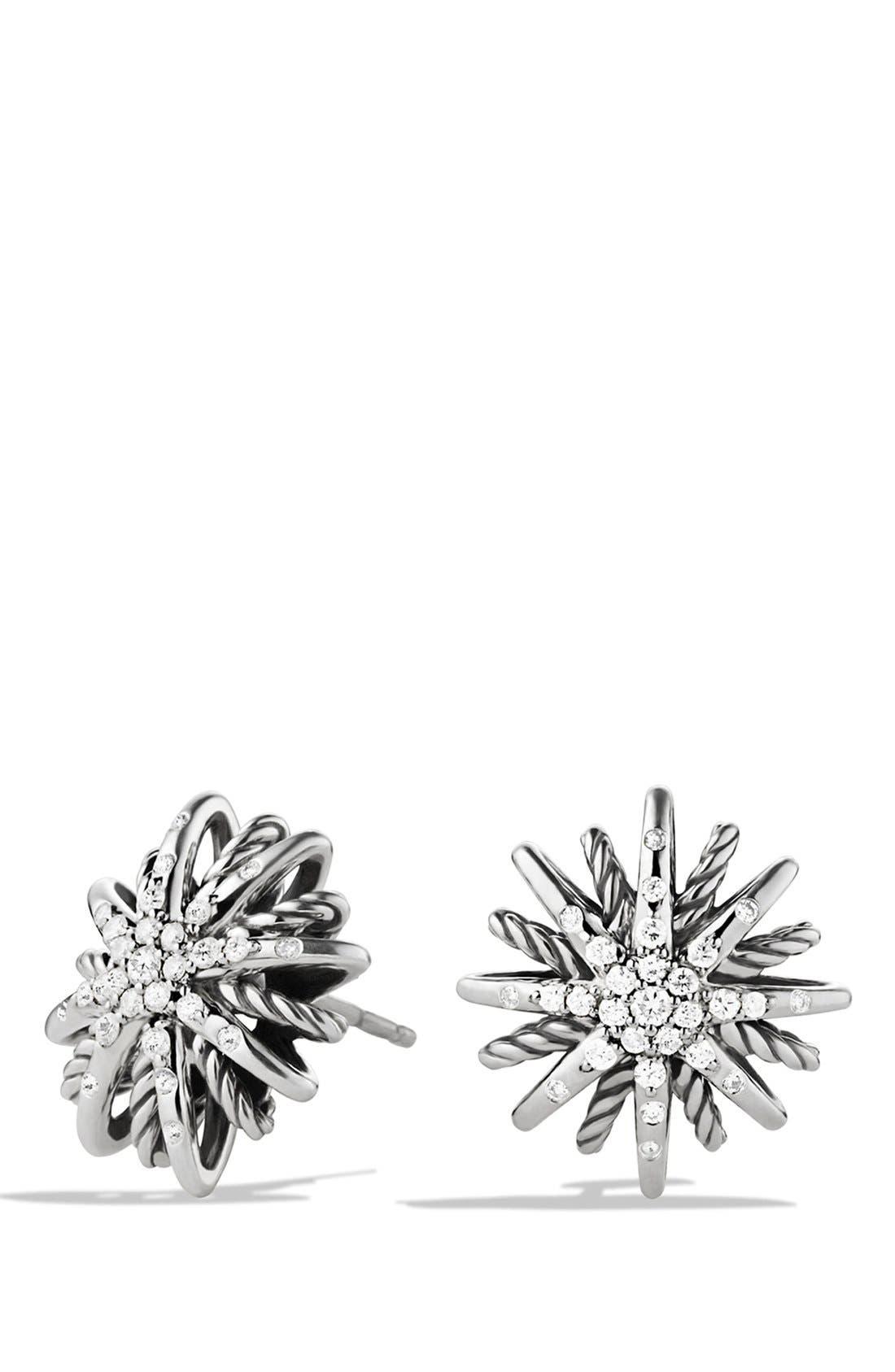 DAVID YURMAN, 'Starburst' Small Earrings with Diamonds, Main thumbnail 1, color, DIAMOND