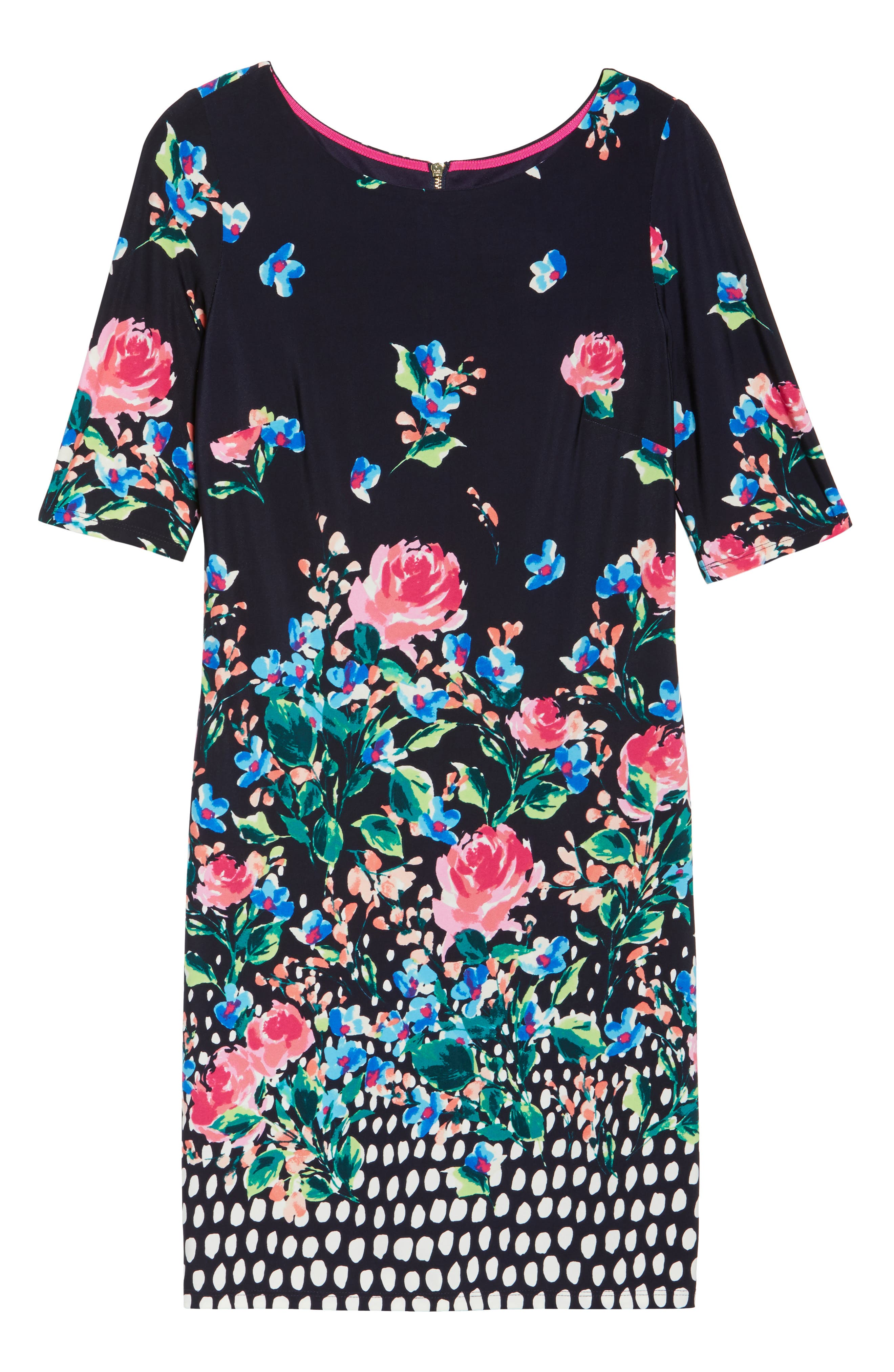 ELIZA J, Jersey Shift Dress, Alternate thumbnail 6, color, 410
