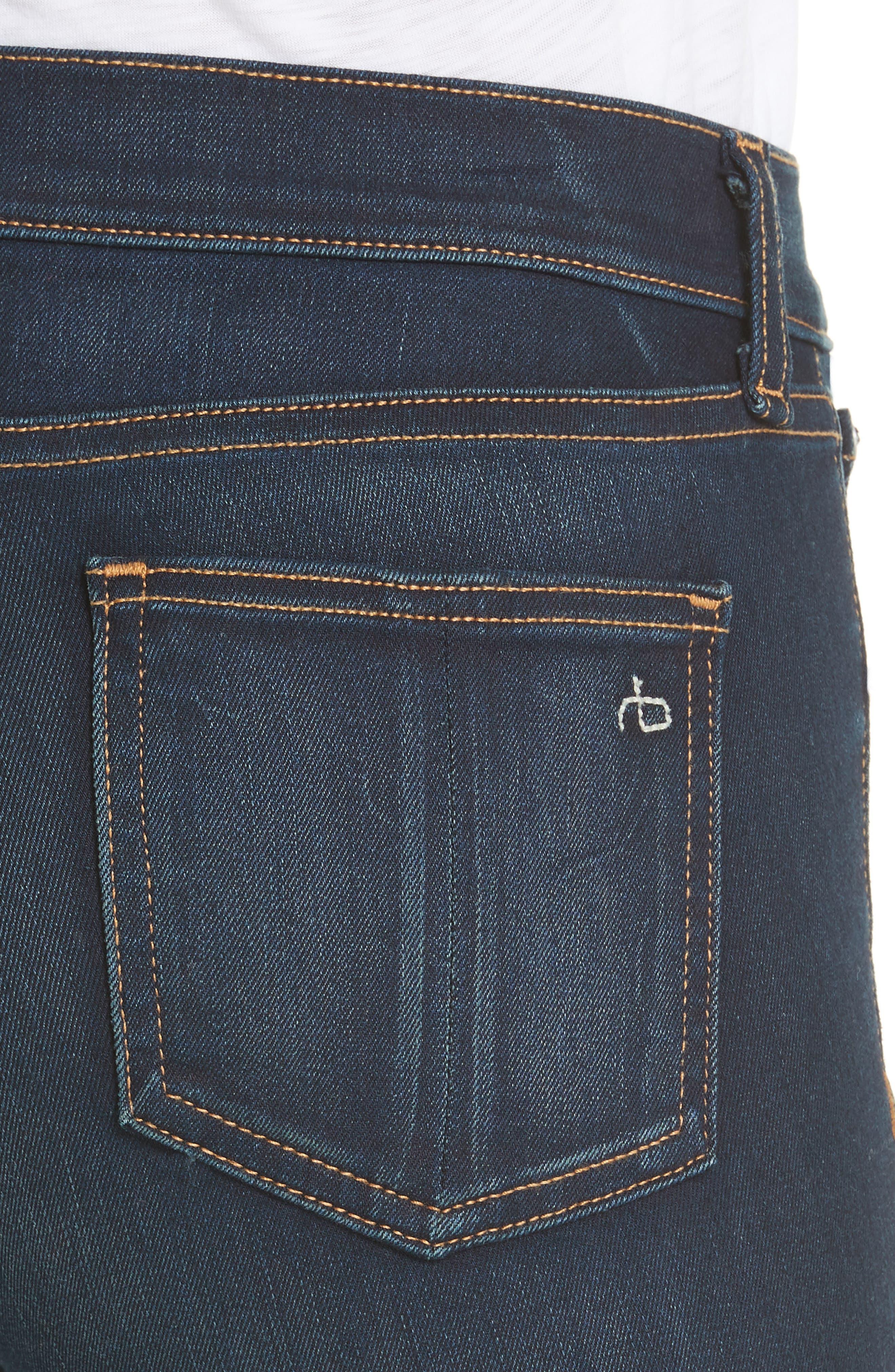 RAG & BONE, High Waist Ankle Skinny Jeans, Alternate thumbnail 5, color, BEDFORD