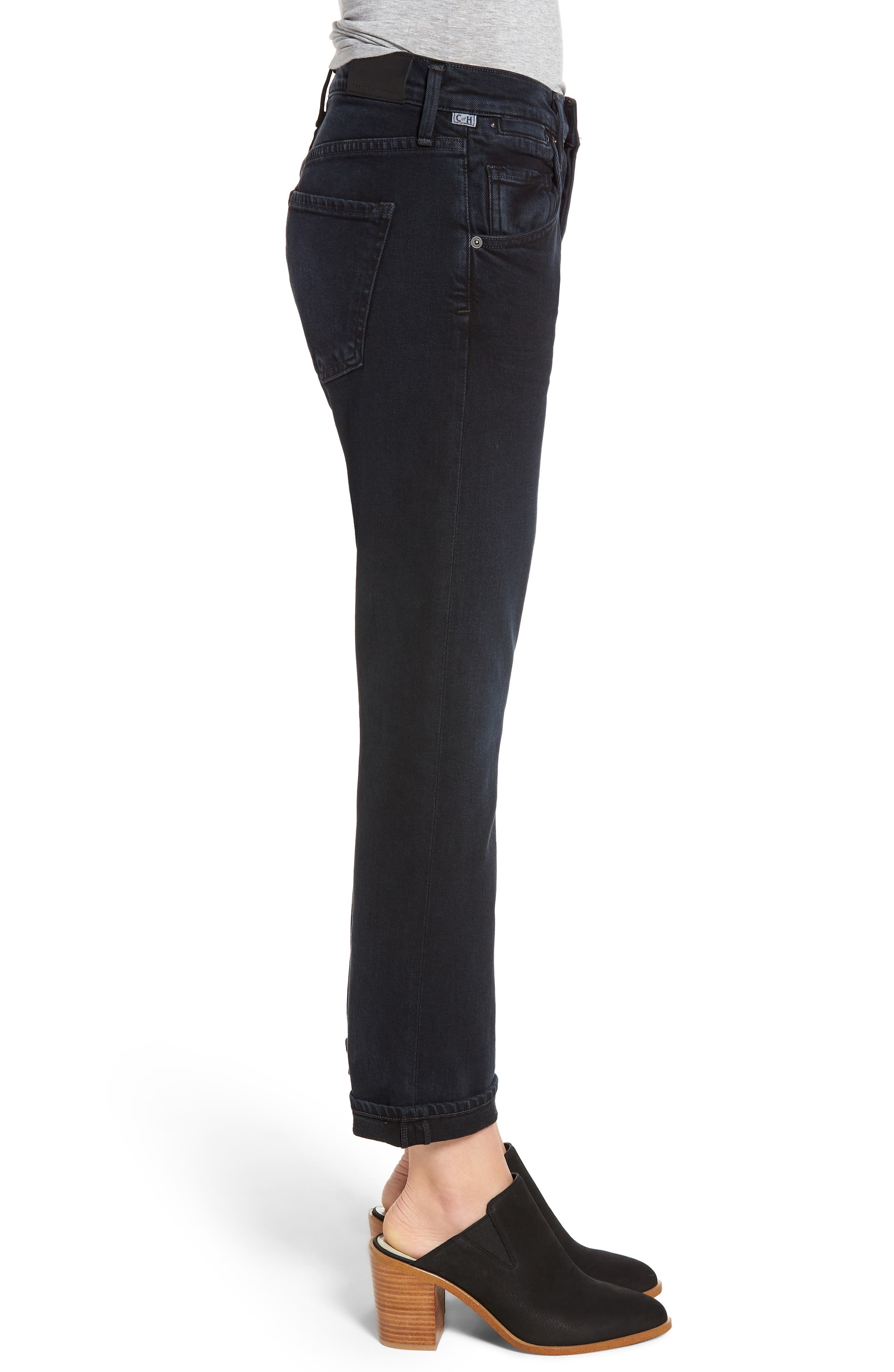 CITIZENS OF HUMANITY, Emerson Slim Boyfriend Jeans, Alternate thumbnail 4, color, NIGHT SHADE