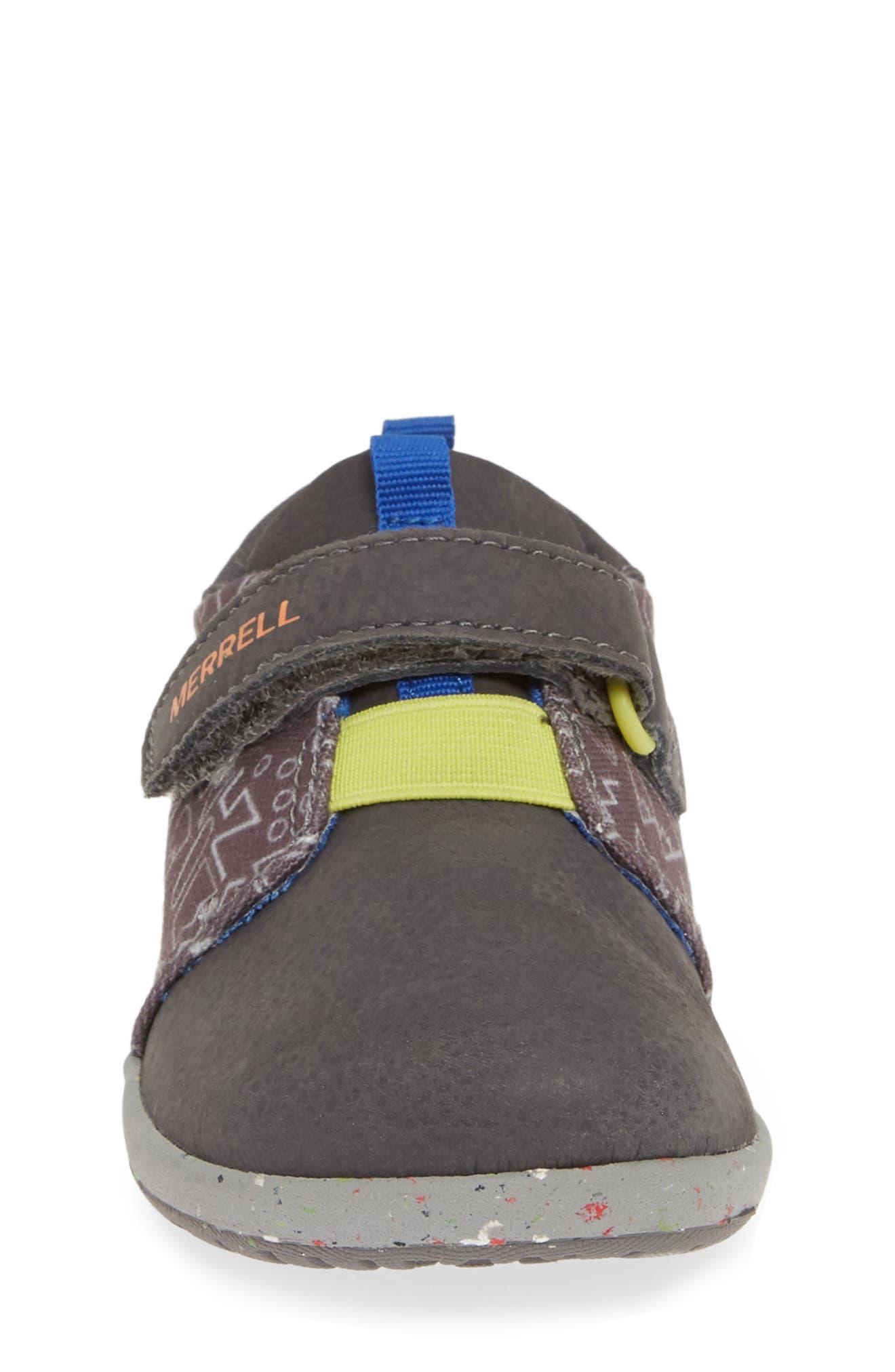 MERRELL, Bare Steps Sneaker, Alternate thumbnail 4, color, GREY