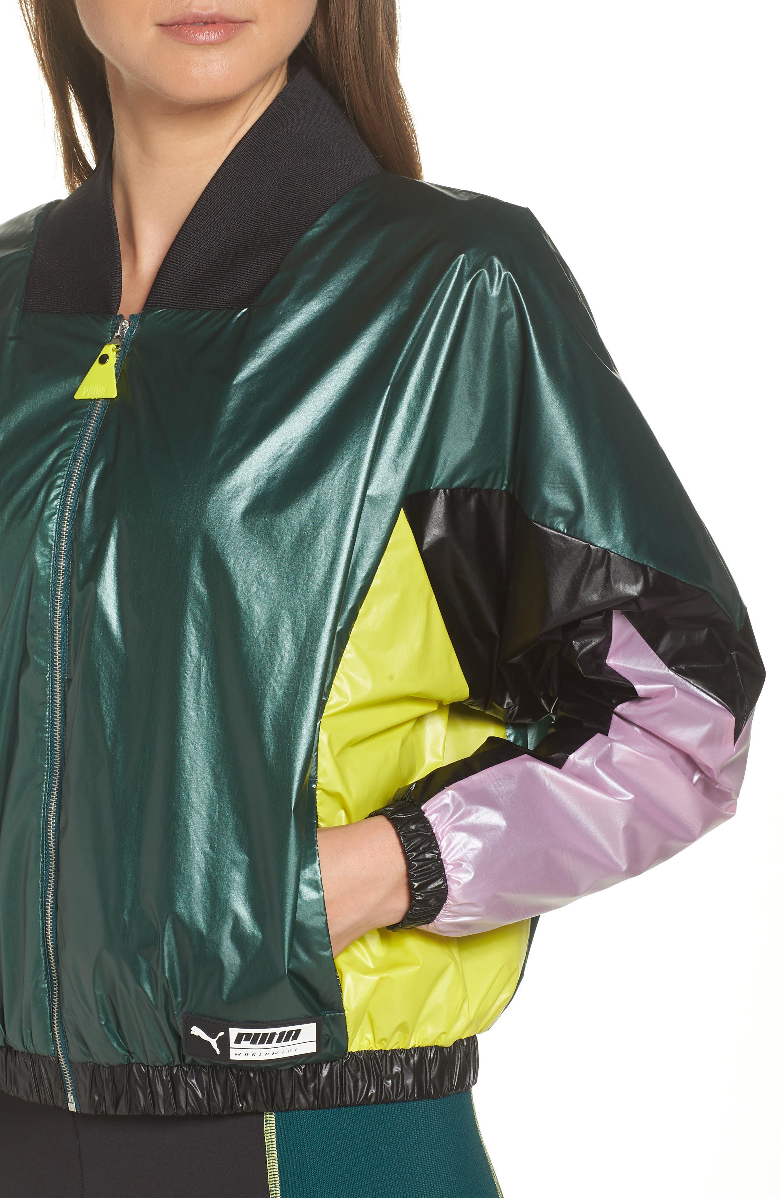PUMA, TZ Jacket, Alternate thumbnail 5, color, 001
