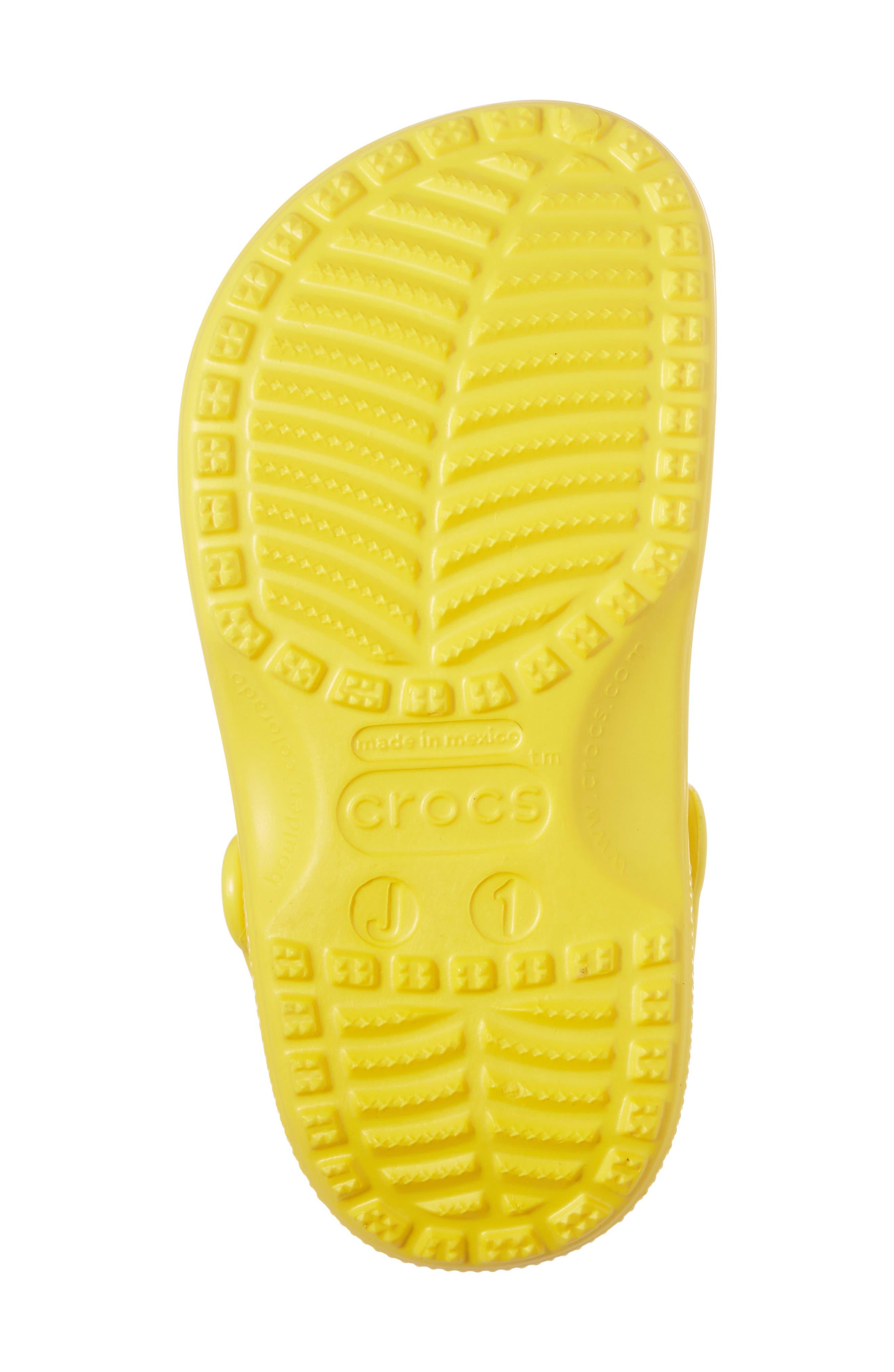 CROCS<SUP>™</SUP>, Classic Clog Sandal, Alternate thumbnail 6, color, LEMON