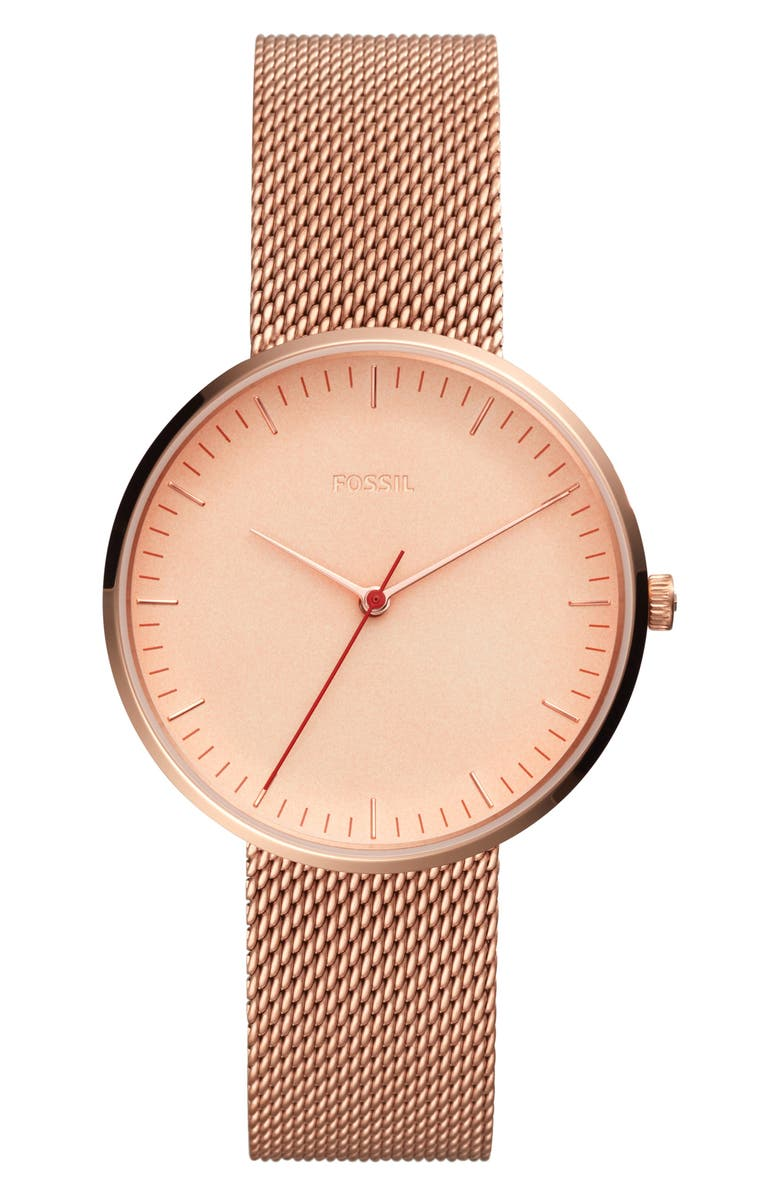 Fossil ESSENTIALIST MESH BRACELET WATCH, 38MM