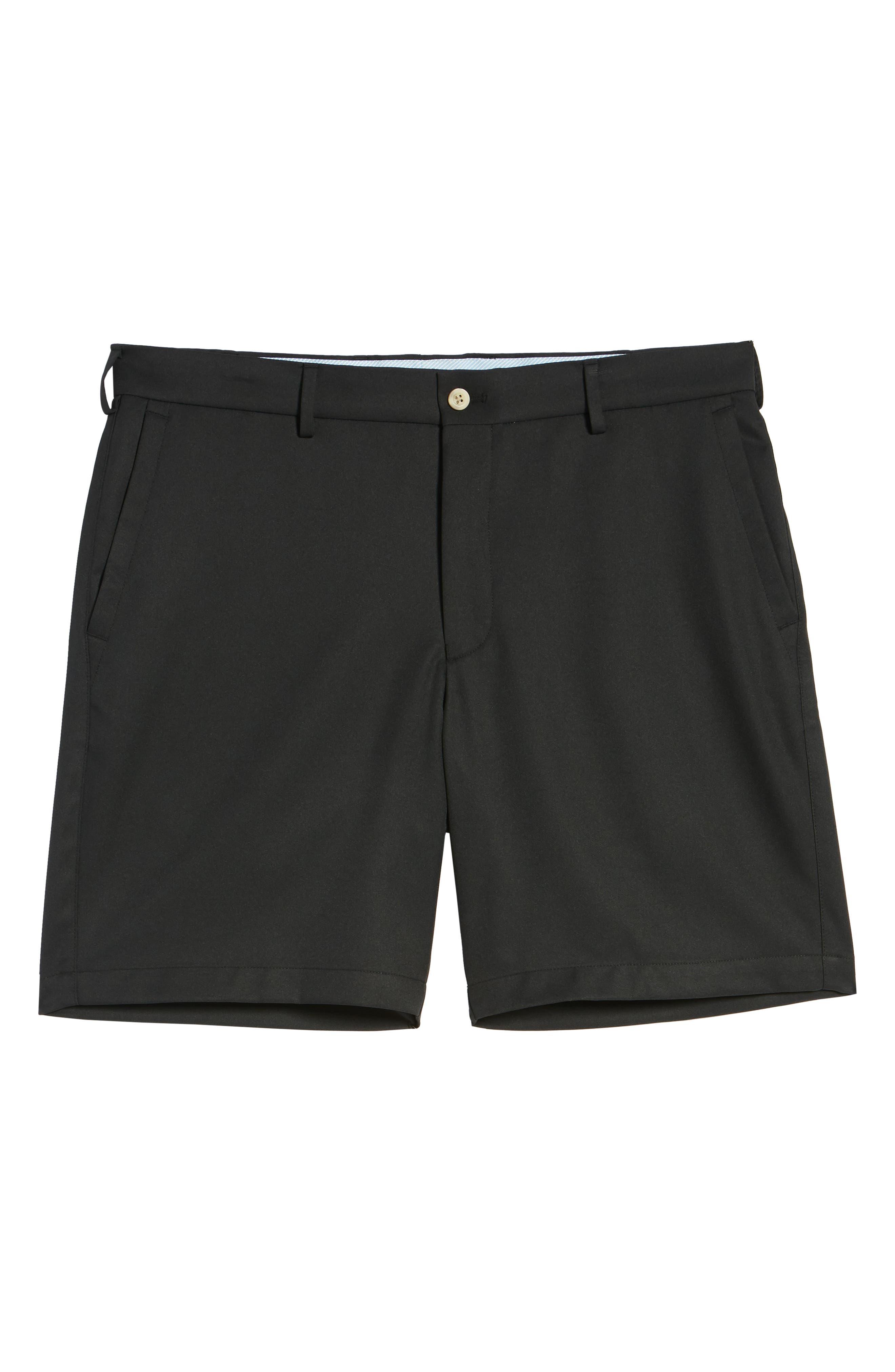 PETER MILLAR, Salem High Drape Performance Shorts, Alternate thumbnail 6, color, BLACK