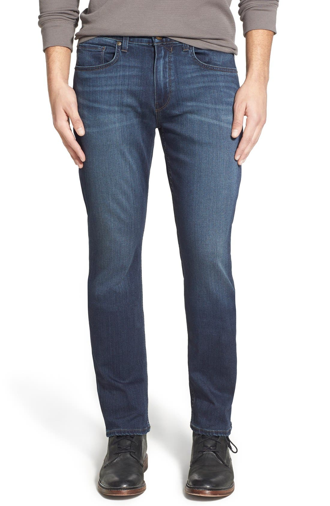PAIGE, 'Federal' Slim Straight Leg Jeans, Main thumbnail 1, color, BLAKELY