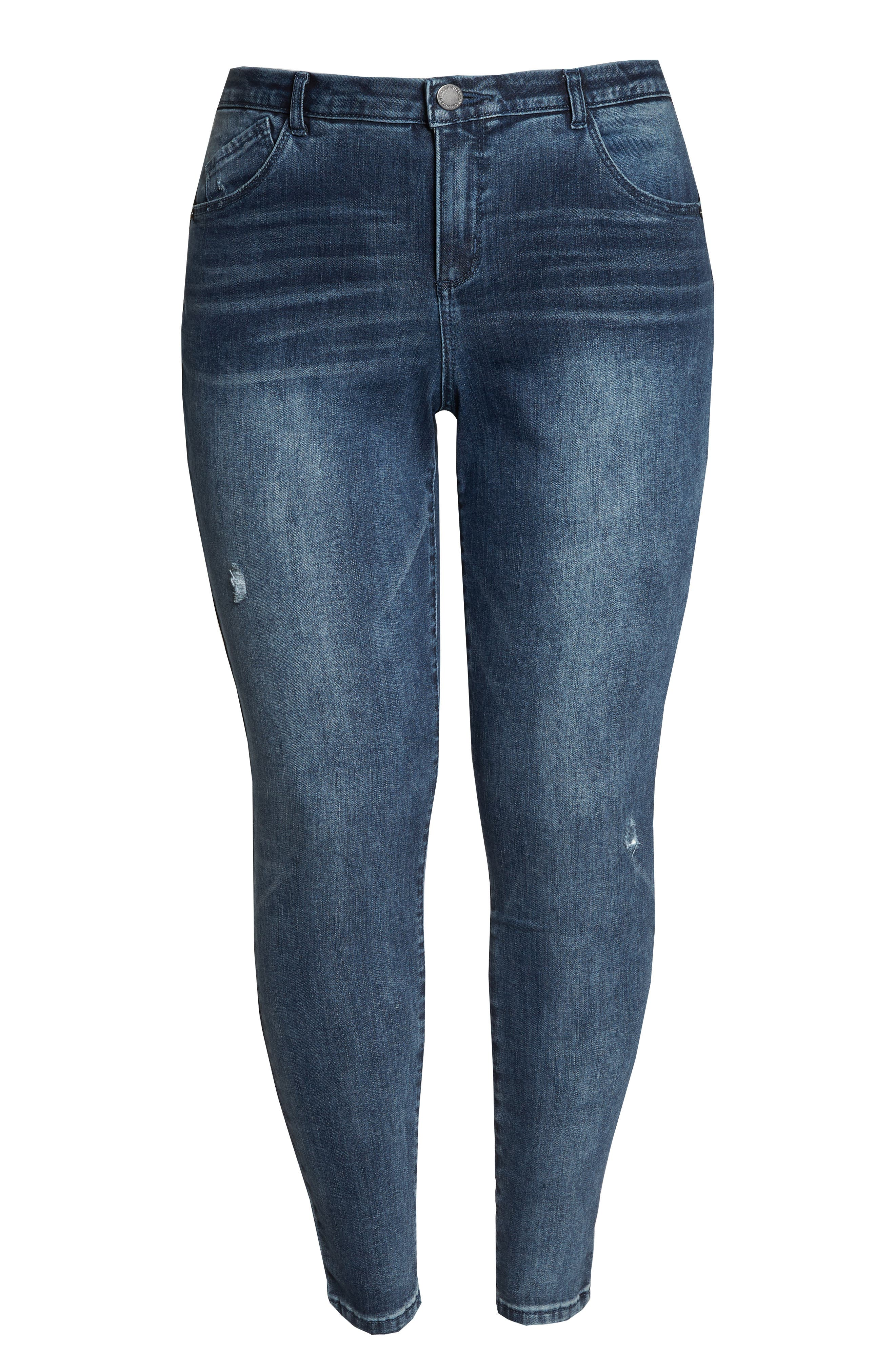 WIT & WISDOM, 30/10 High Rise Ab-solution Skinny Fit Jeans, Alternate thumbnail 7, color, BLUE