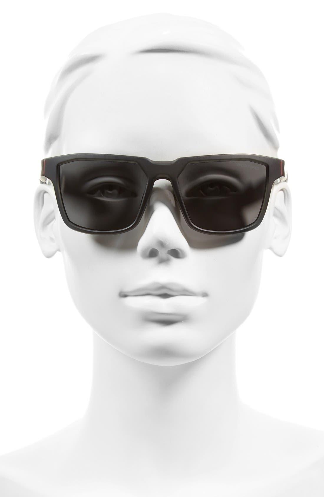 NIKE, Fleet 55mm Sport Sunglasses, Alternate thumbnail 2, color, MATTE ANTHRACITE