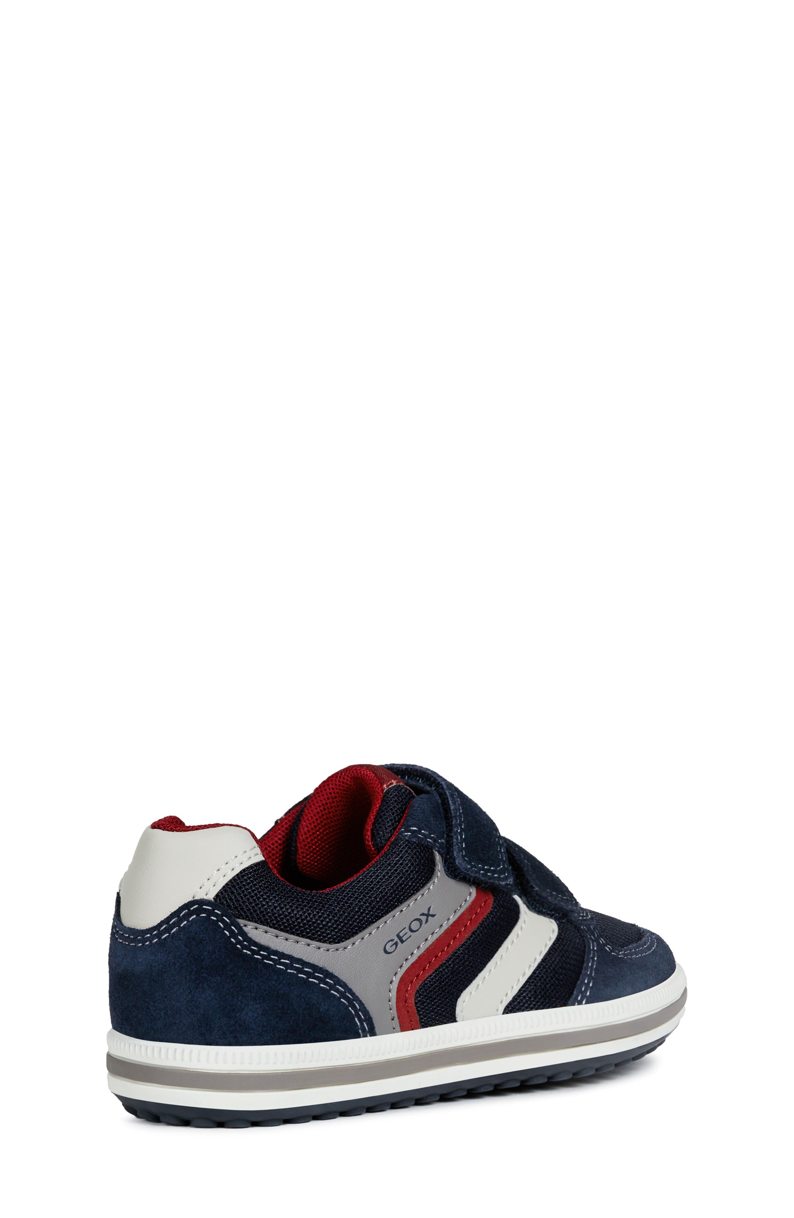 GEOX, 'Vita' Sneaker, Alternate thumbnail 7, color, NAVY/ RED