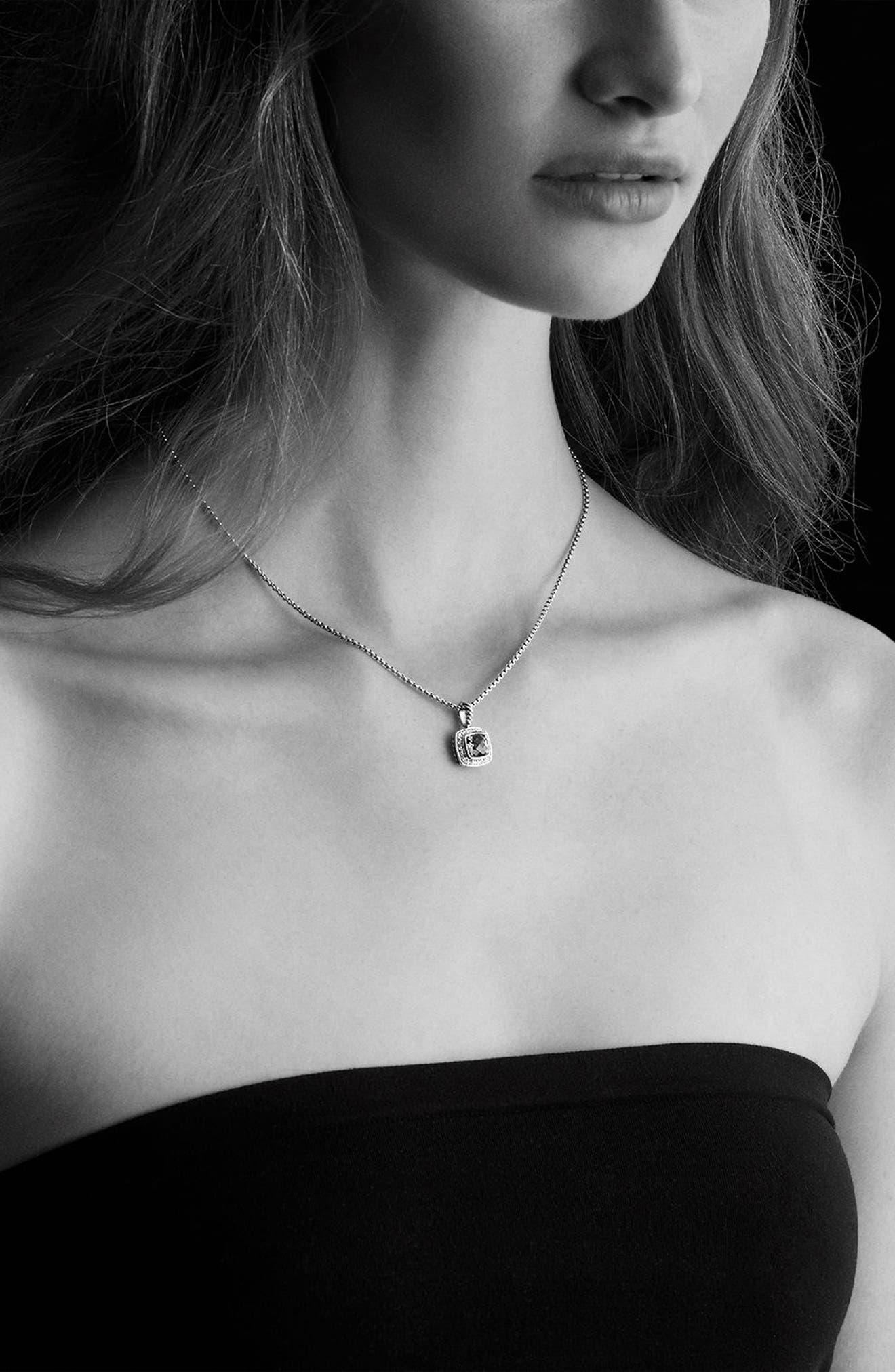 DAVID YURMAN, 'Albion' Petite Pendant with Semiprecious Stone & Diamonds on Chain, Alternate thumbnail 2, color, BLACK ONYX
