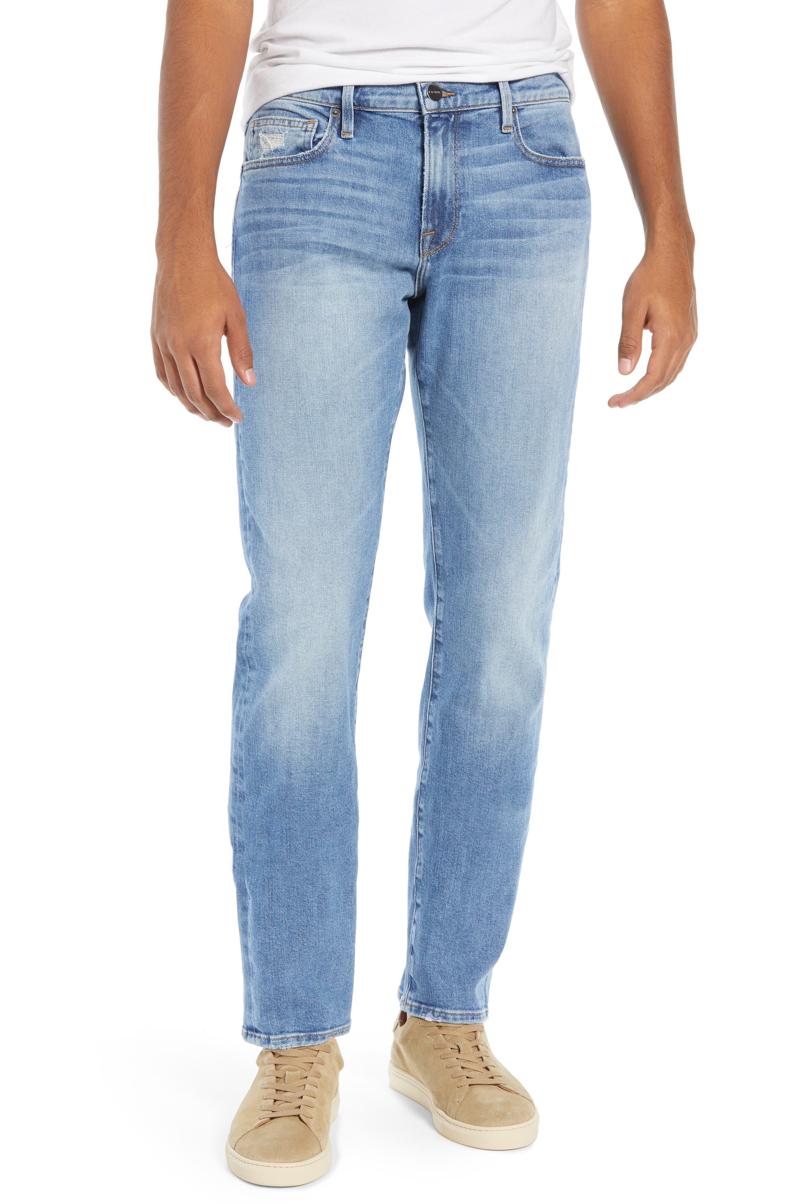 FRAME, L'Homme Slim Fit Jeans, Main thumbnail 1, color, BLUE BAY