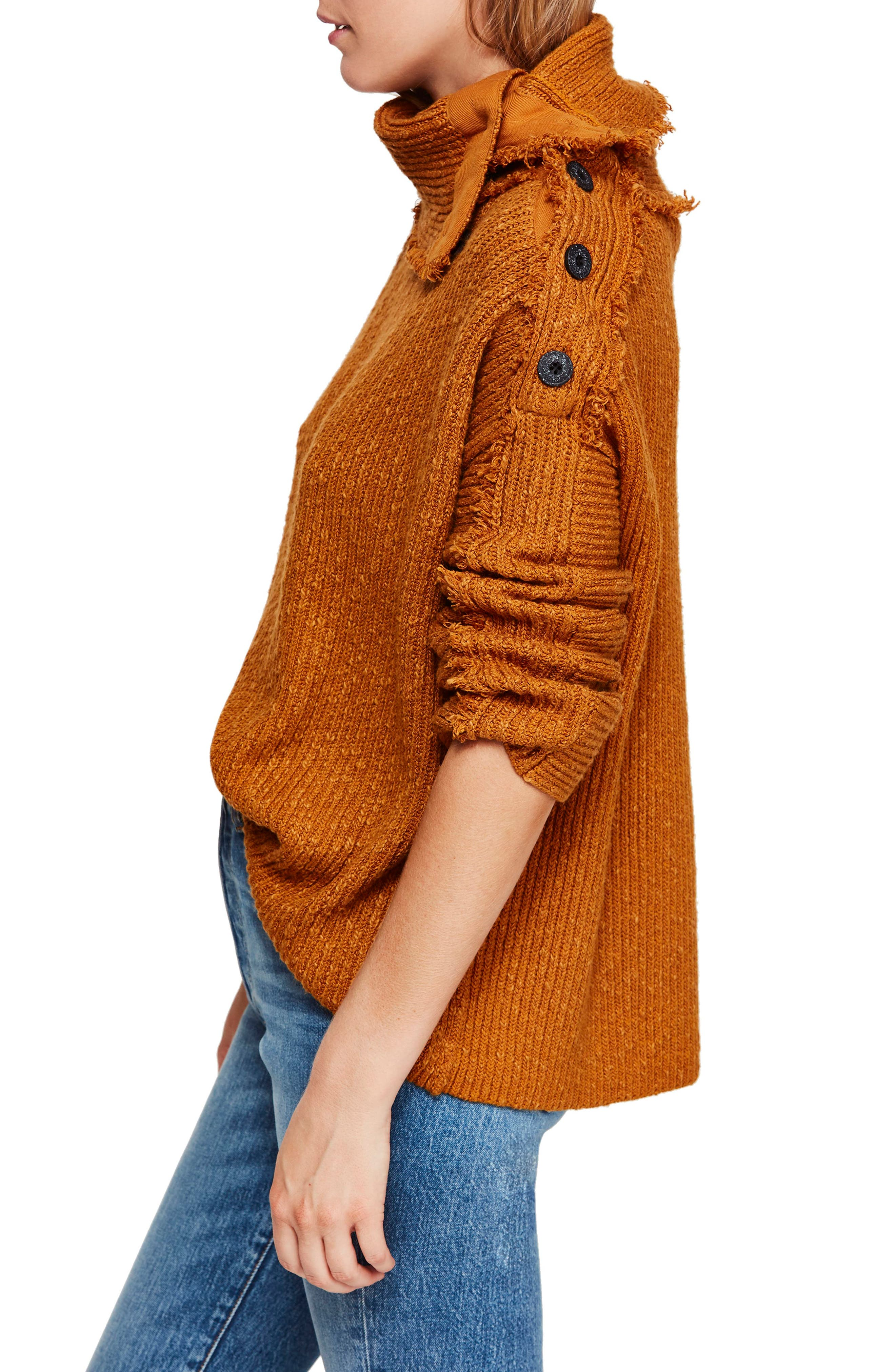 FREE PEOPLE, On My Side Turtleneck Sweater, Alternate thumbnail 3, color, 710