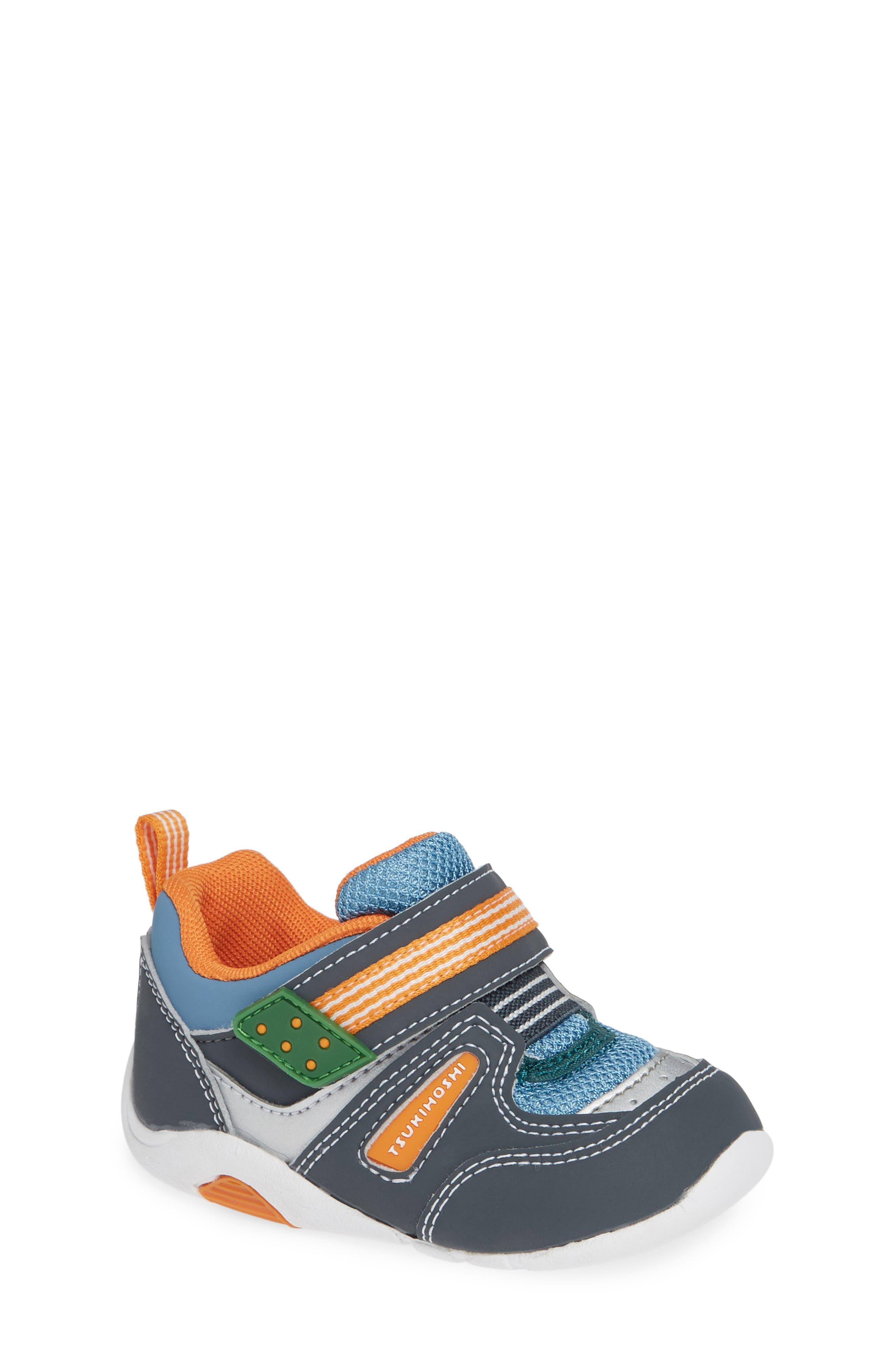 TSUKIHOSHI Neko Washable Sneaker, Main, color, CHARCOAL/ SEA