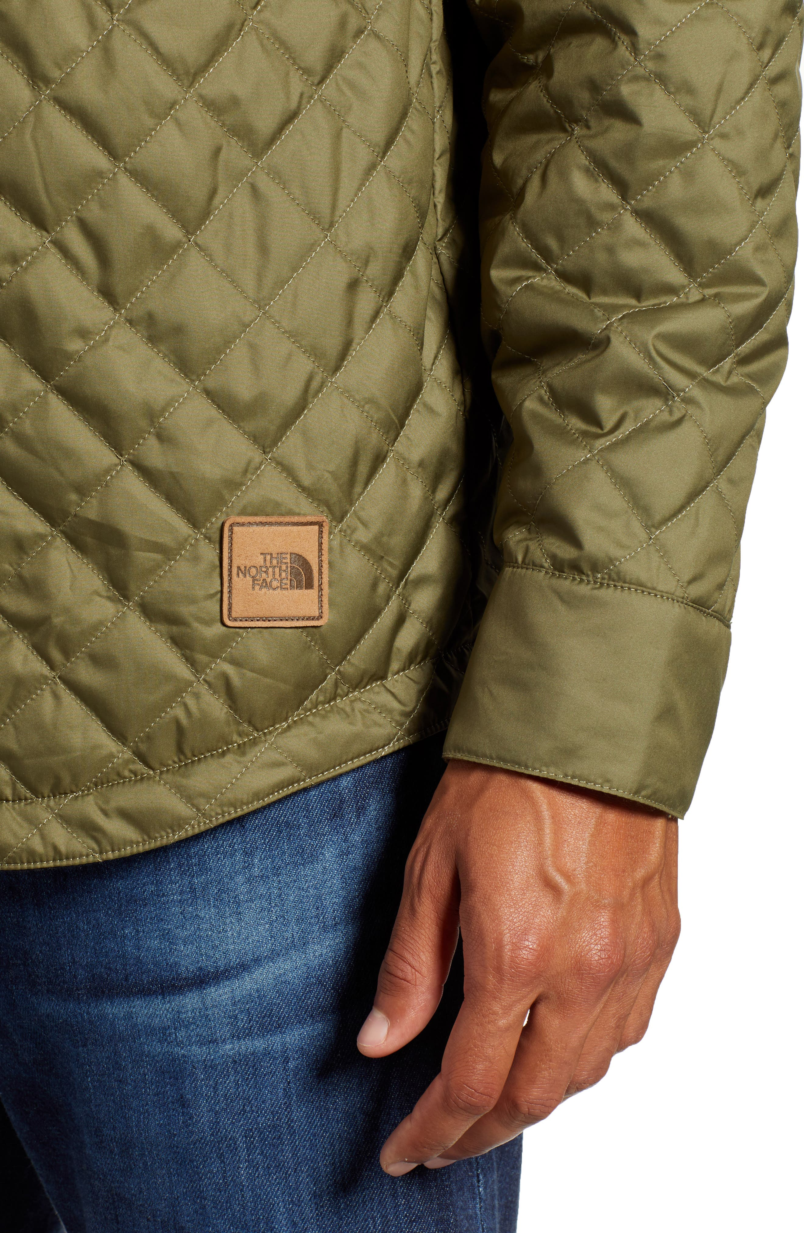 THE NORTH FACE, Fort Point Insulated Reversible Shirt Jacket, Alternate thumbnail 5, color, BURNT OLIVE GREEN