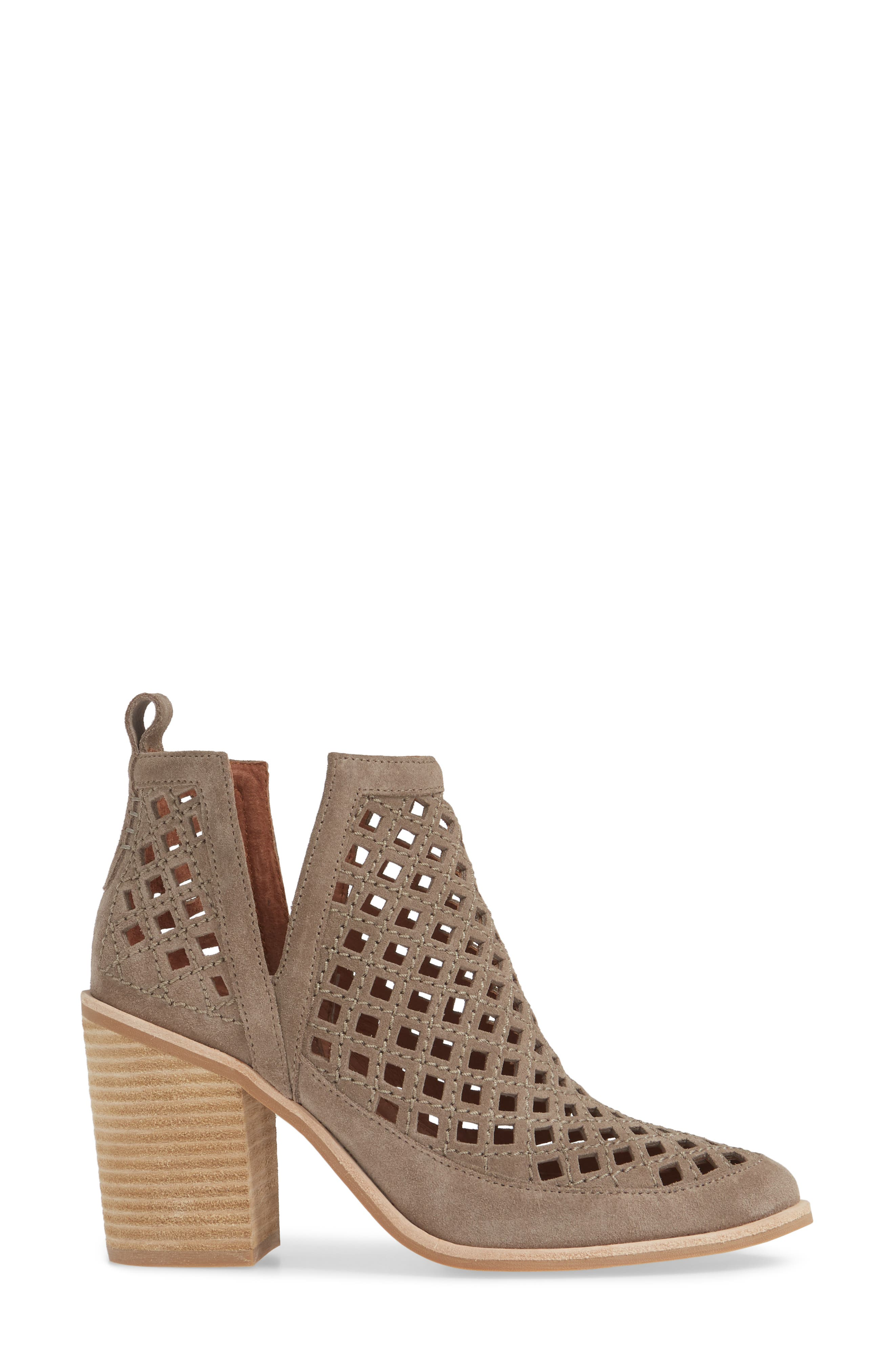 JEFFREY CAMPBELL, Kamet Bootie, Alternate thumbnail 3, color, TAUPE SUEDE