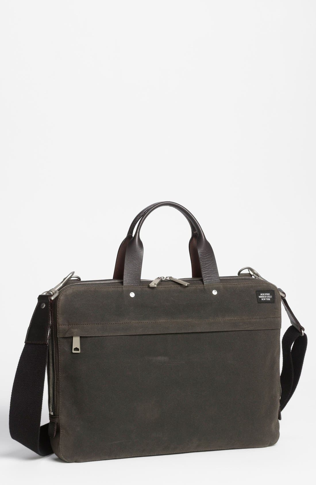 JACK SPADE, 'Waxwear' Briefcase, Main thumbnail 1, color, 215