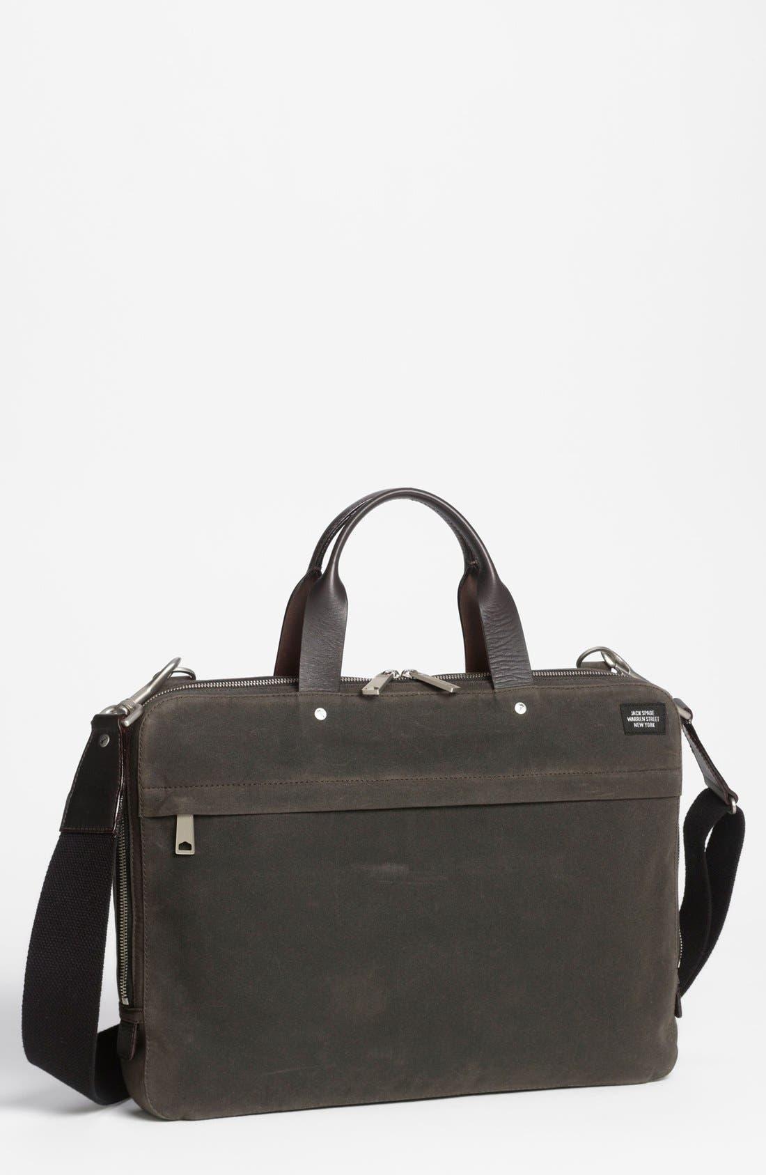JACK SPADE 'Waxwear' Briefcase, Main, color, 215